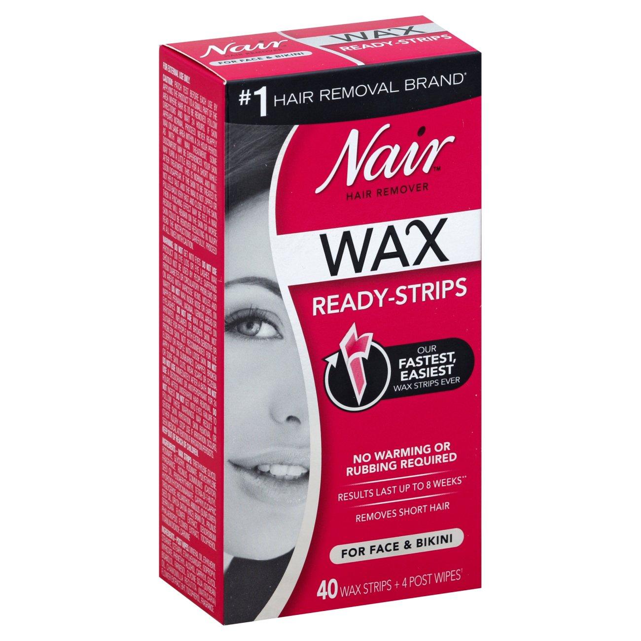 Nair Wax Ready Strips Face Shop Depilatories Wax At H E B