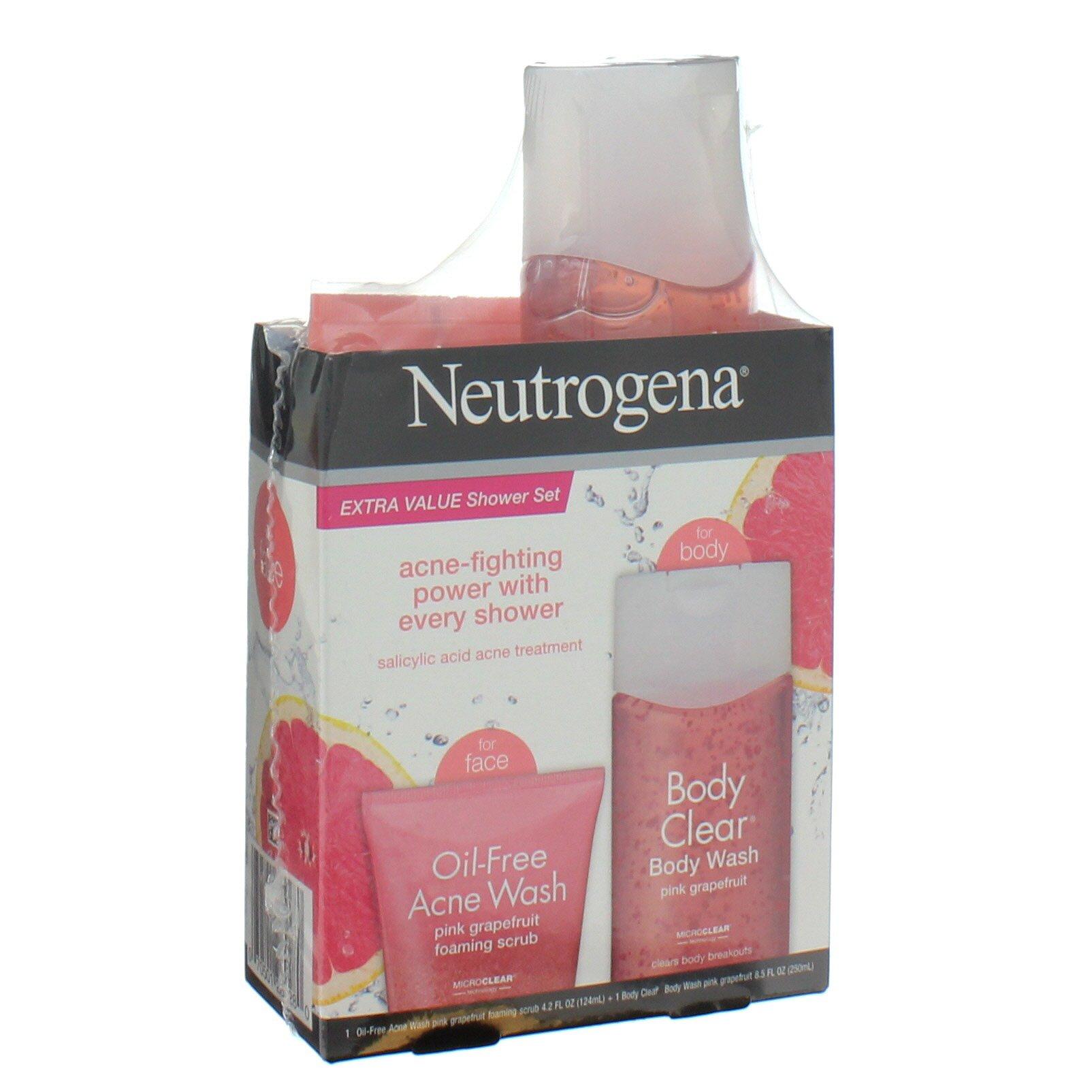 Neutrogena Oil Free Pink Grapefruit Shower Set Shop Facial Masks