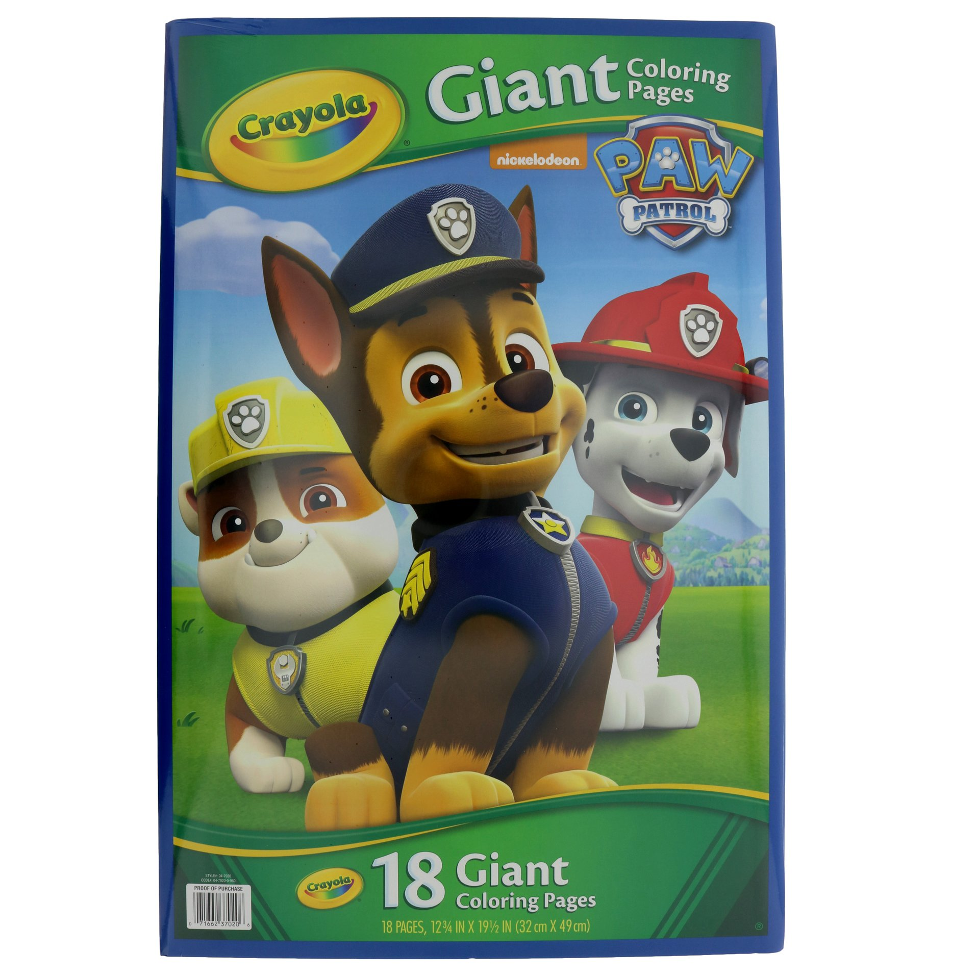 Crayola Giant Color Page Paw Patrol - Shop Books ...