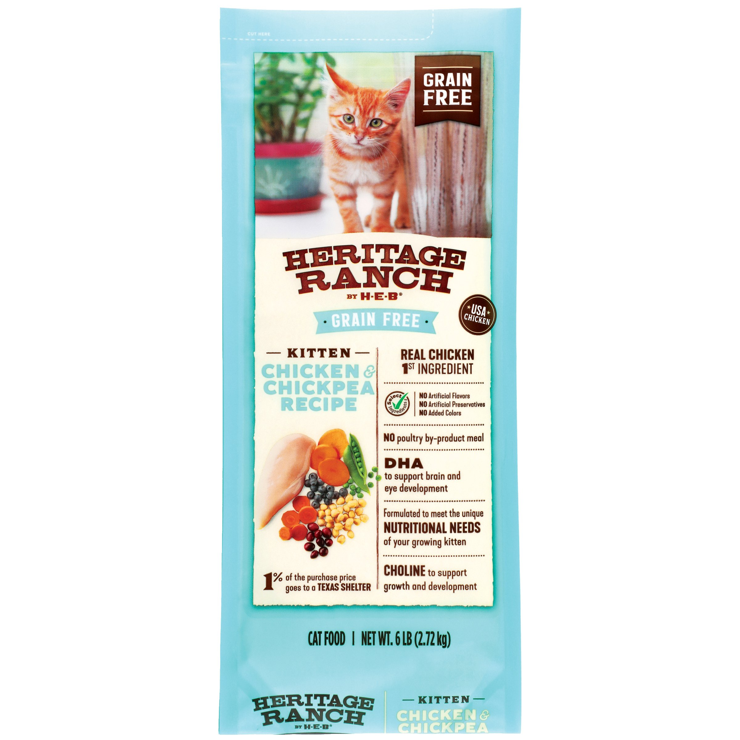 Heritage Ranch By H E B Grain Free Kitten Formula Dry Cat Food Shop Cats At H E B