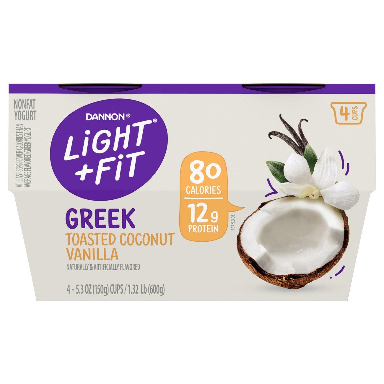 Dannon Light U0026 Fit Non Fat Toasted Coconut Vanilla Greek Yogurt   Shop Dannon  Light U0026 Fit Non Fat Toasted Coconut Vanilla Greek Yogurt   Shop Dannon Light  ...