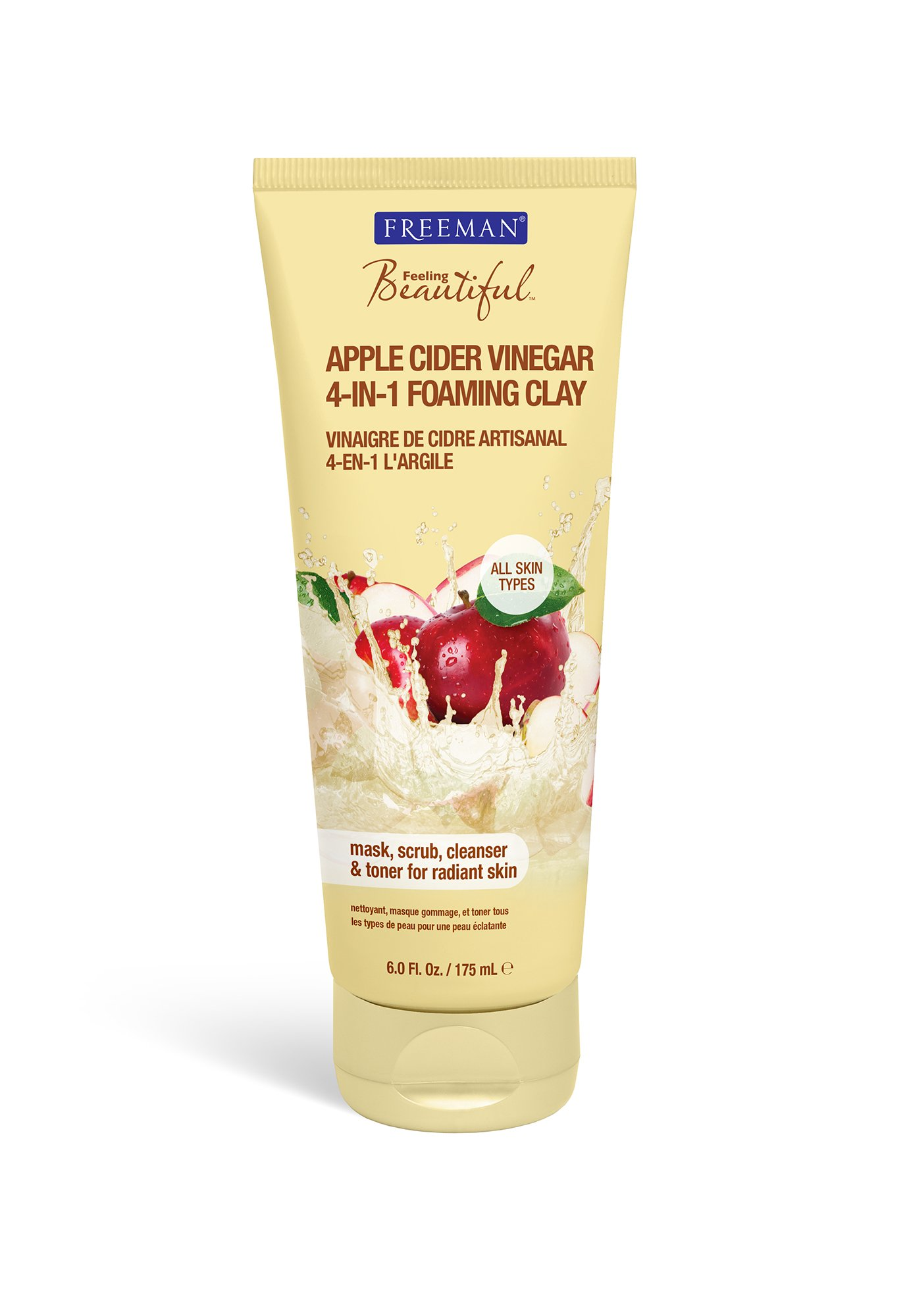 Freeman 4-in-1 Foaming Clay, Apple Cider Vinegar 6 oz Helena Rubinstein Powercell Anti-Pollution Mask  100ml/3.38oz