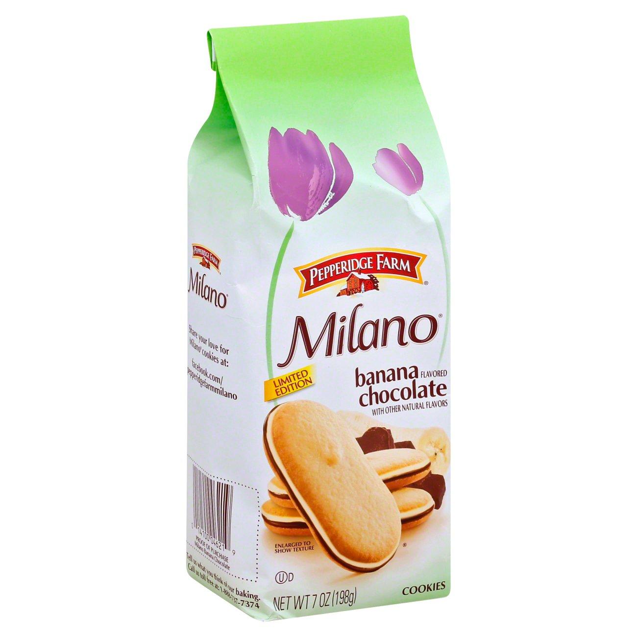 Pepperidge Farm Milano Cookies Chocolate Banana Shop Cookies At H E B