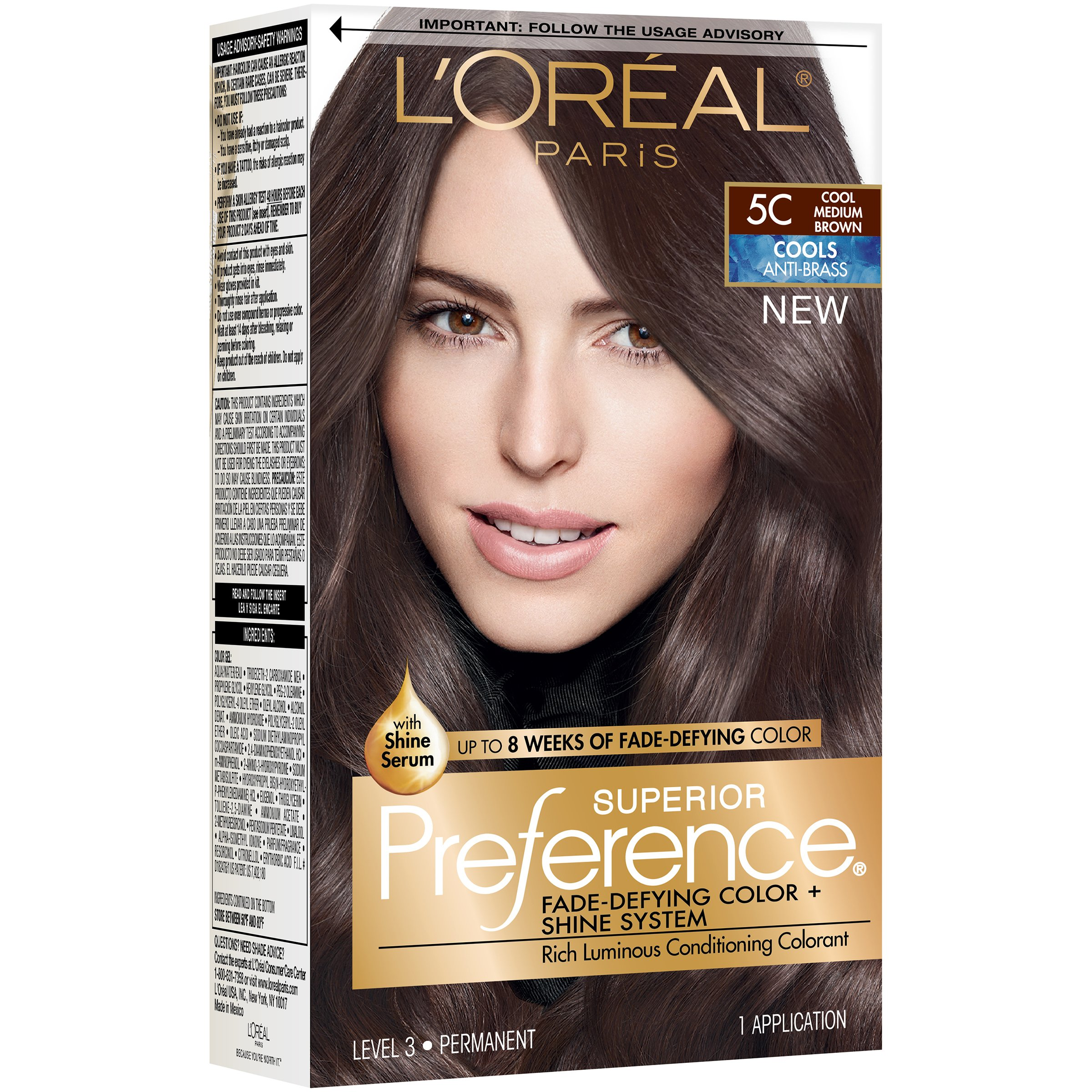 L Oreal Paris Superior Preference Cool Medium Brown 5c Hair Color At Heb