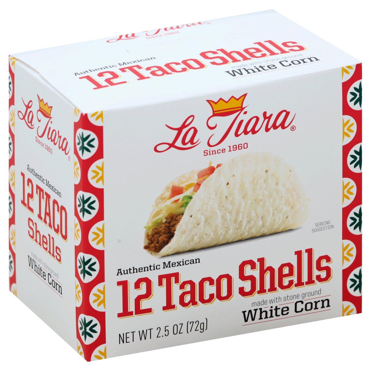 La Tiara White Corn Taco Shells Shop Tortillas At H E B