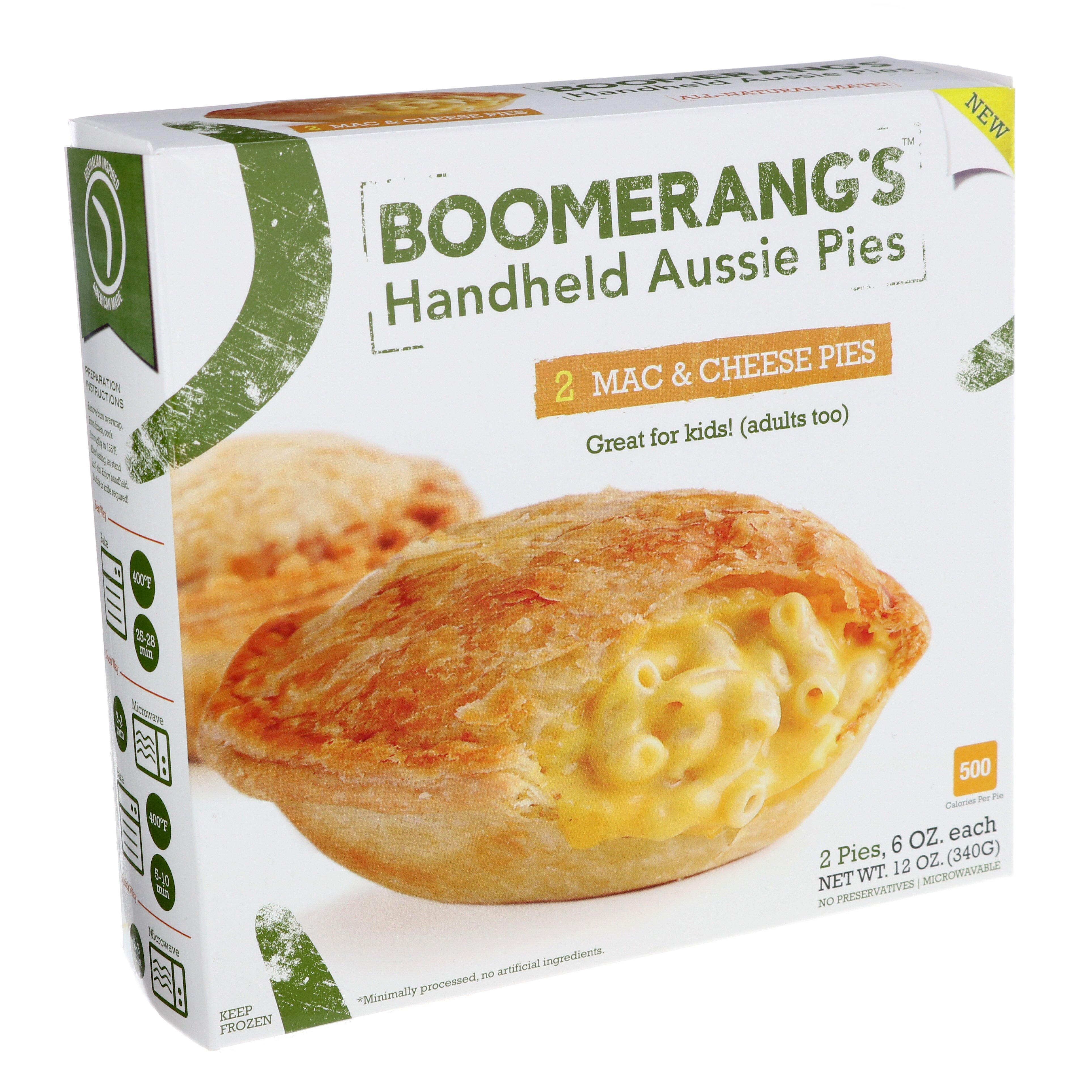 boomerang u0027s handheld aussie pies macaroni and cheese shop