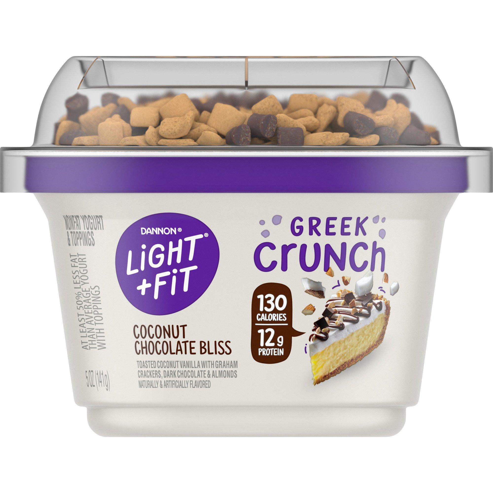 Dannon Light U0026 Fit Greek Crunch Coconut Chocolate Bliss Greek Yogurt U2011 Shop Dannon  Light U0026 Fit Greek Crunch Coconut Chocolate Bliss Greek Yogurt U2011 Shop ...