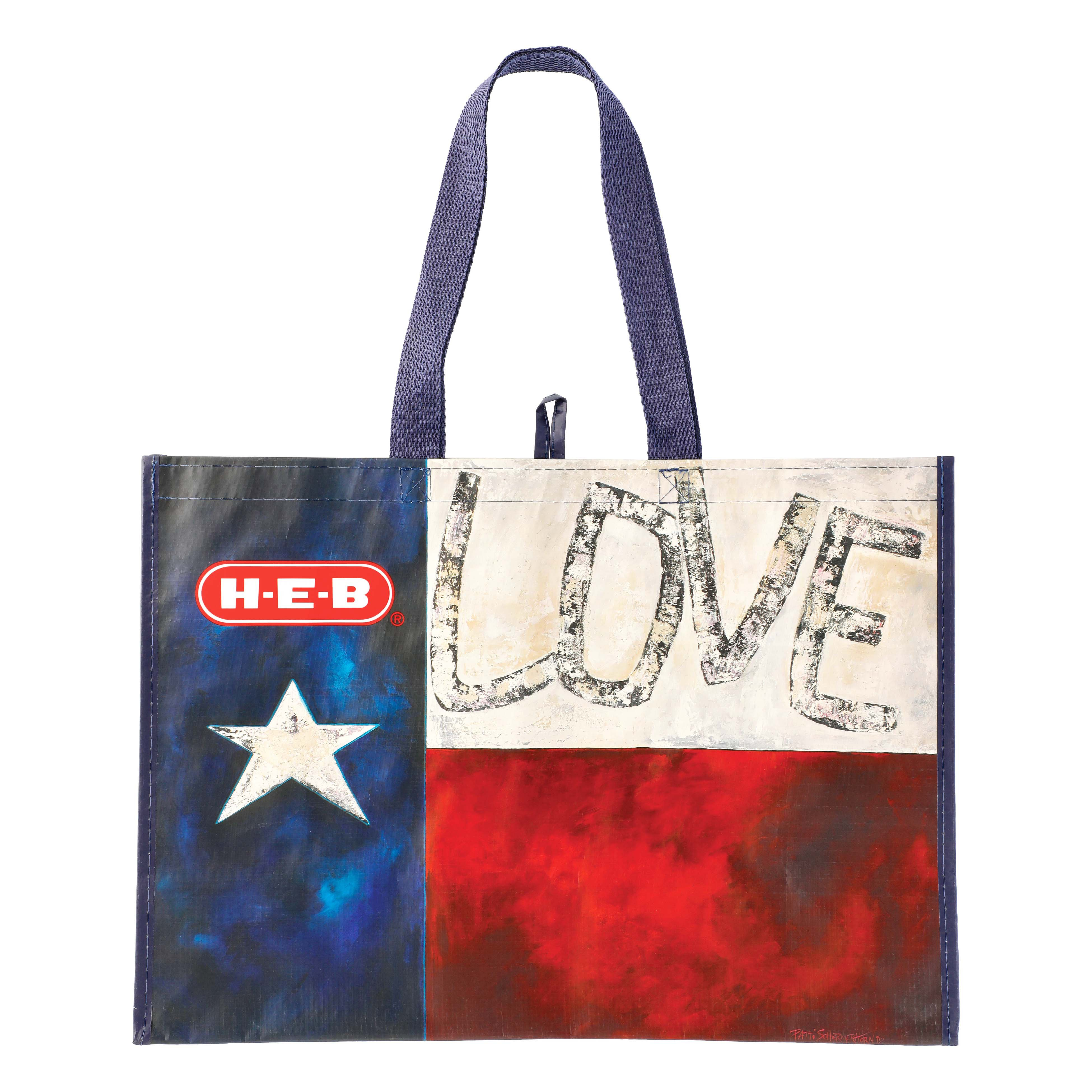 kitchen storage and organization shop heb everyday low prices online h e b texas flag reusable shopping bag