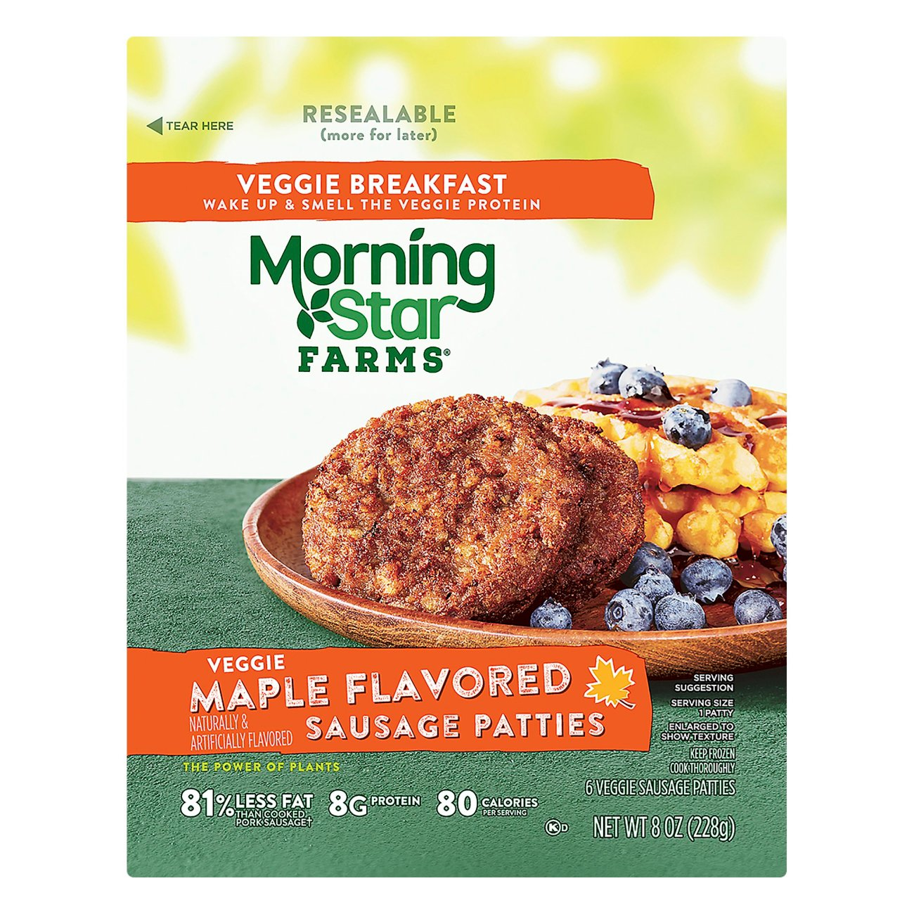 Morningstar Farms Veggie Maple Flavored Sausage Patties Shop Meat Alternatives At H E B