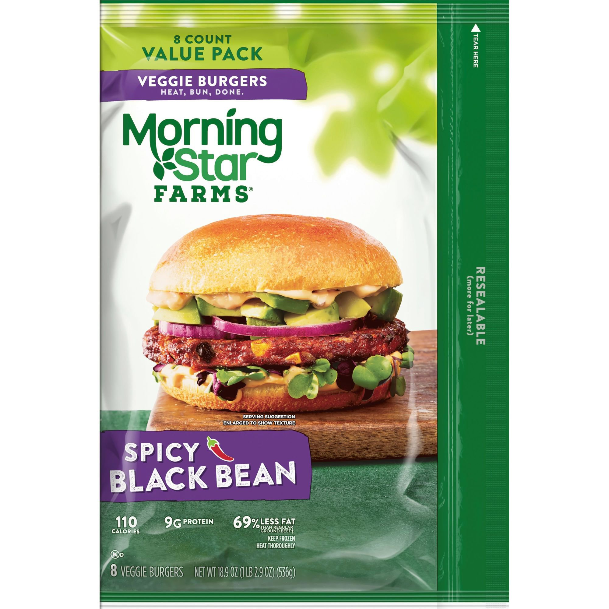 Morningstar Farms Spicy Black Bean Veggie Patties Value Pack Shop