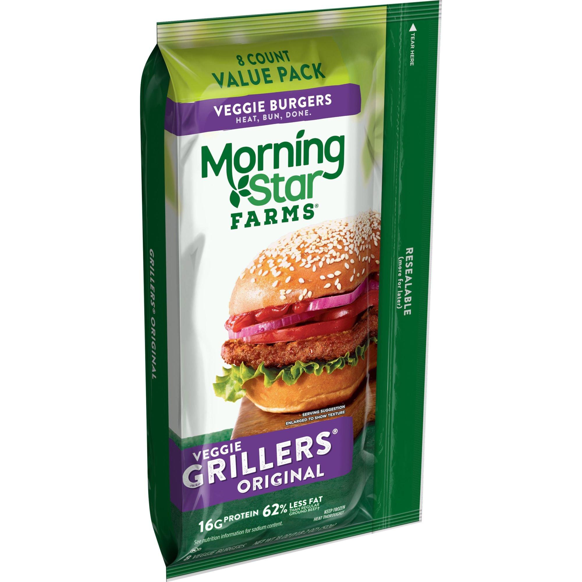 Morningstar Farms Grillers Original Veggie Burgers Value Pack Shop Meat Alternatives At H E B
