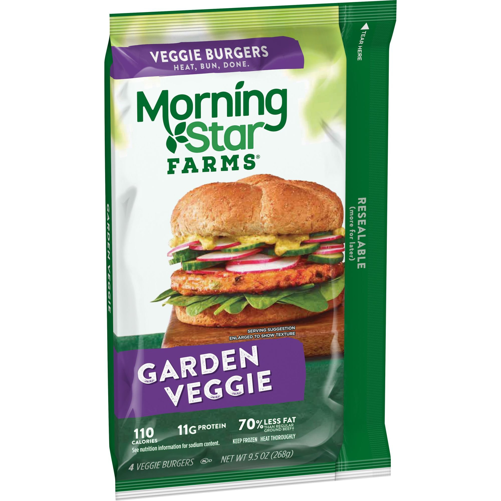 MorningStar Farms Garden Veggie Burgers Shop Meat Substitutes at HEB