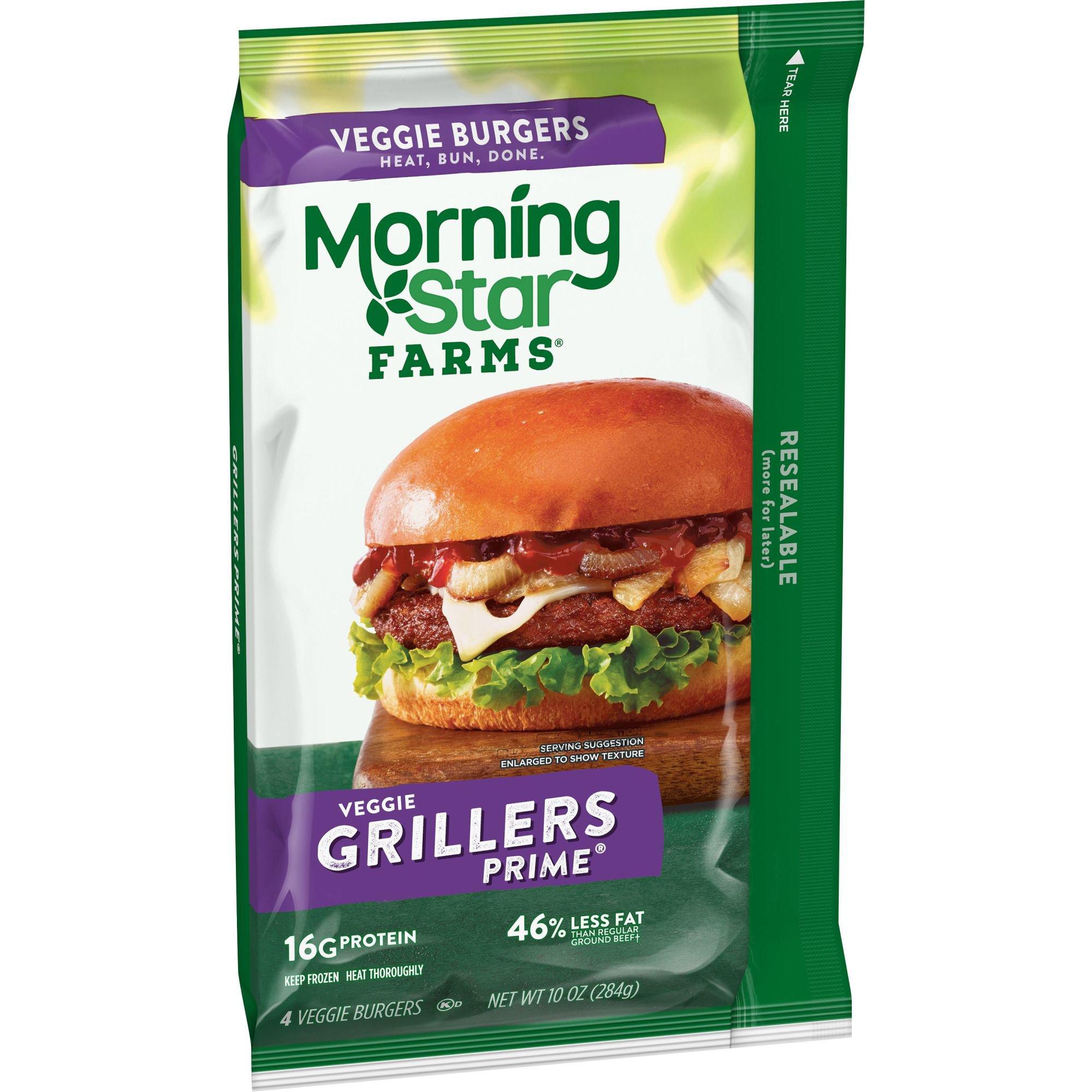 Morningstar Farms Grillers Prime Veggie Burgers Shop Meat Alternatives At H E B