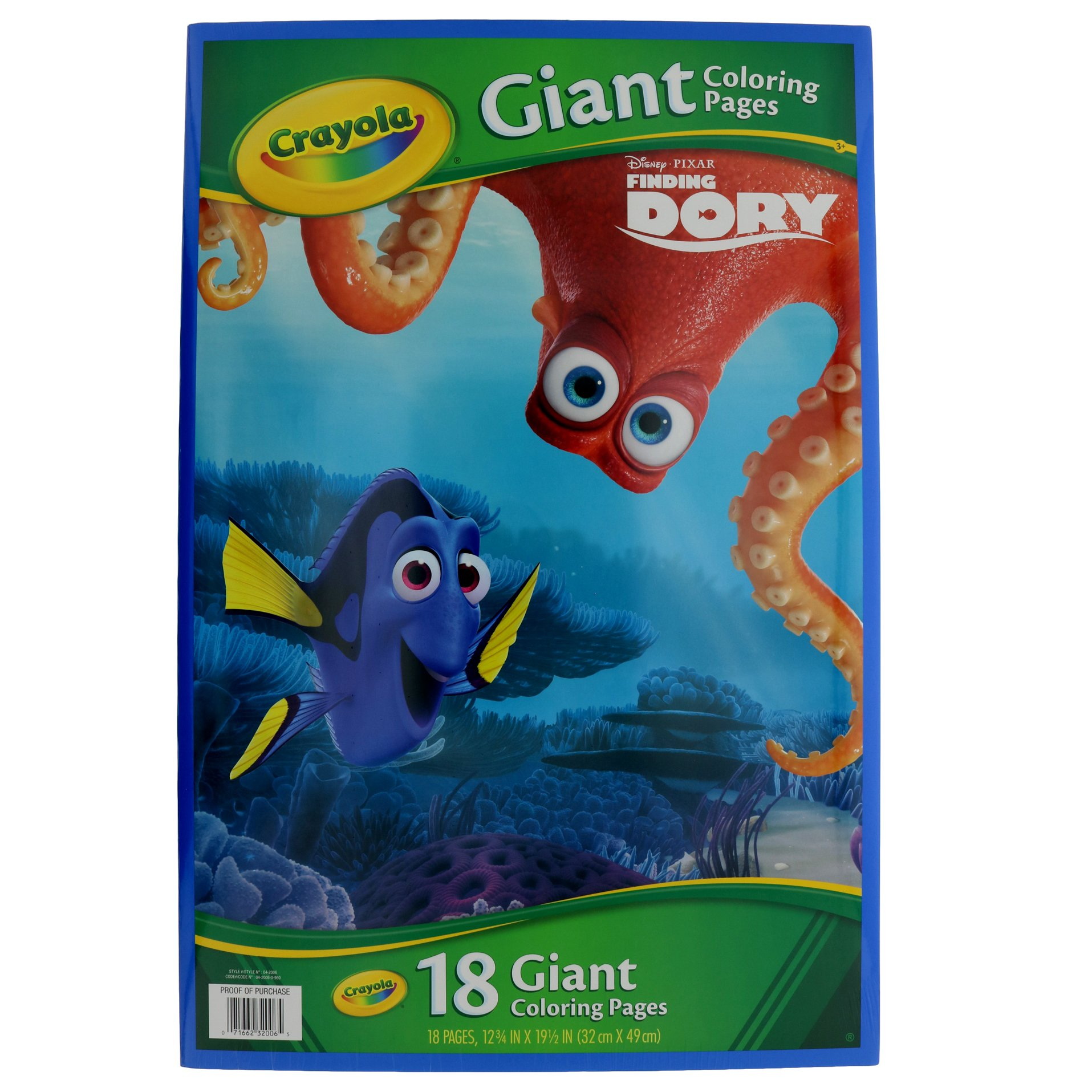 Crayola Giant Coloring Pages Dory - Shop Books & Coloring at HEB