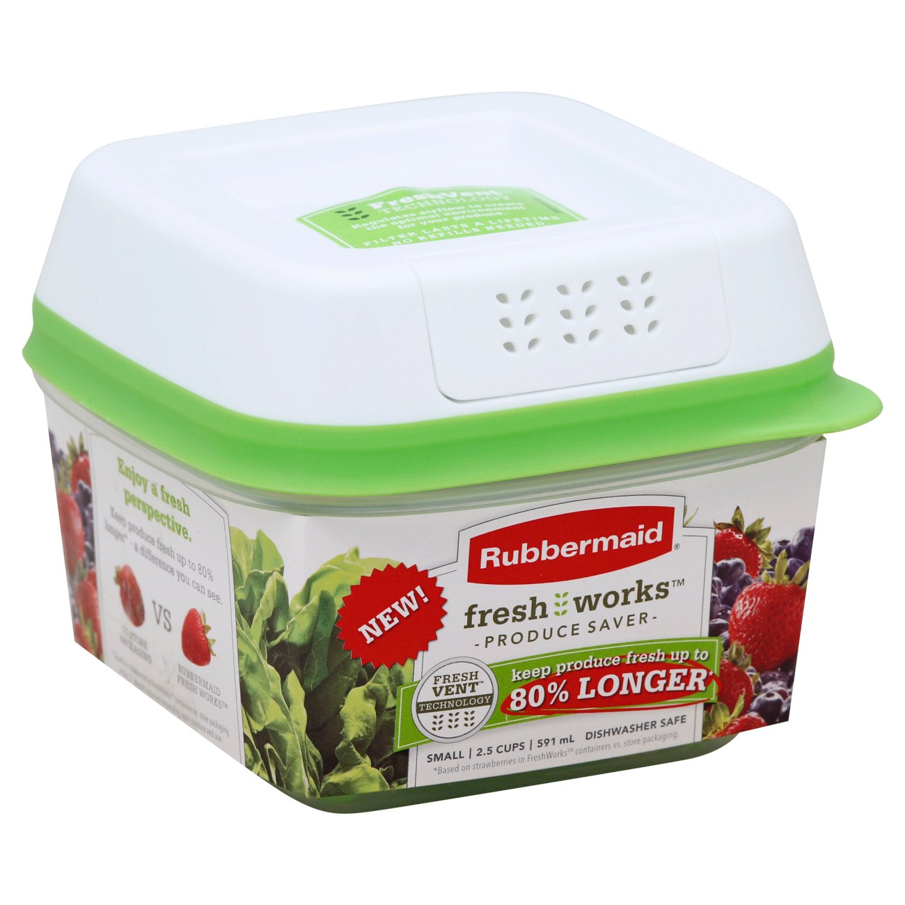 Vegetable Saver Containers Rubbermaid freshworks produce saver small shop containers at heb workwithnaturefo