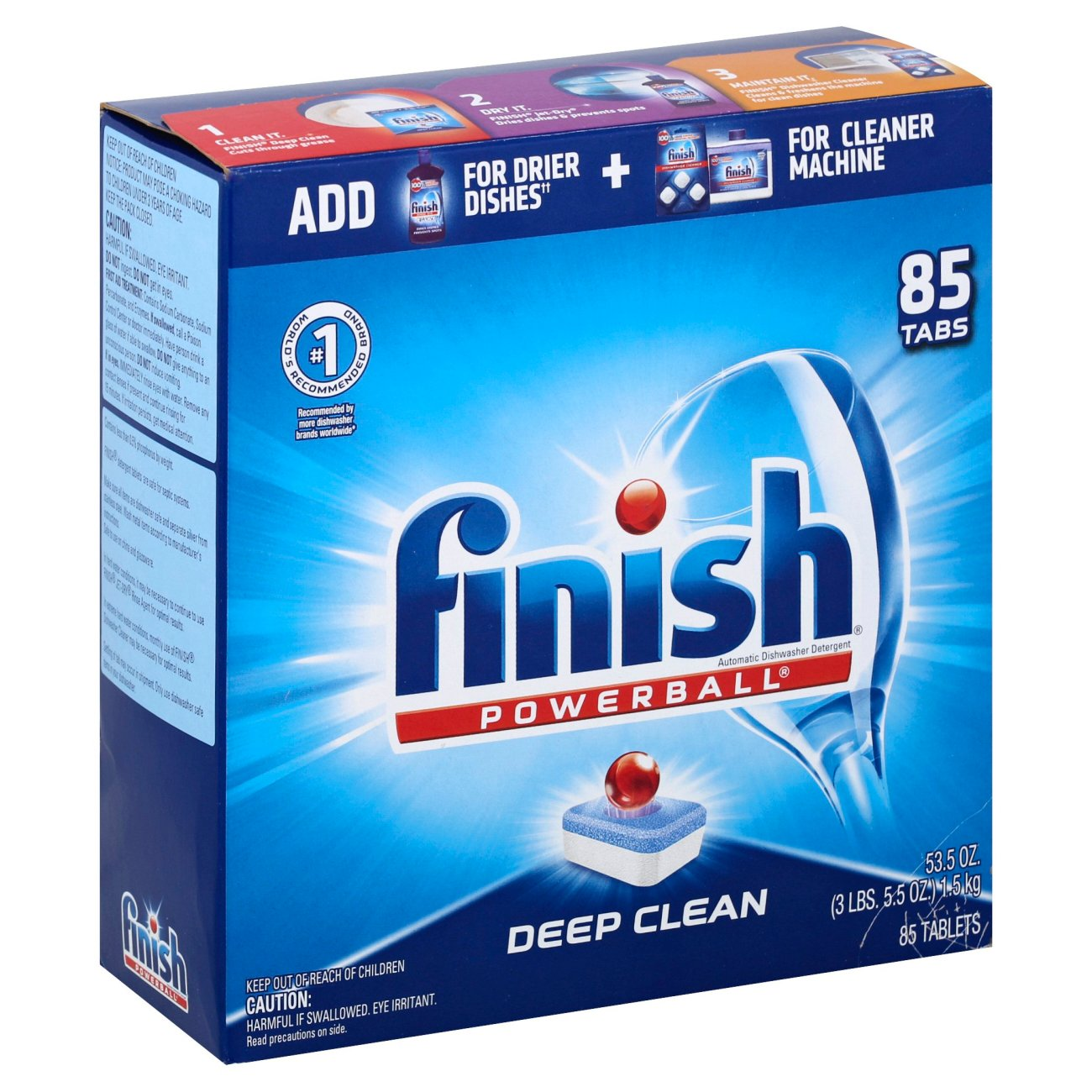 Finish Powerball Deep Clean Dishwasher Detergent Tabs Shop Dish Soap Detergent At H E B