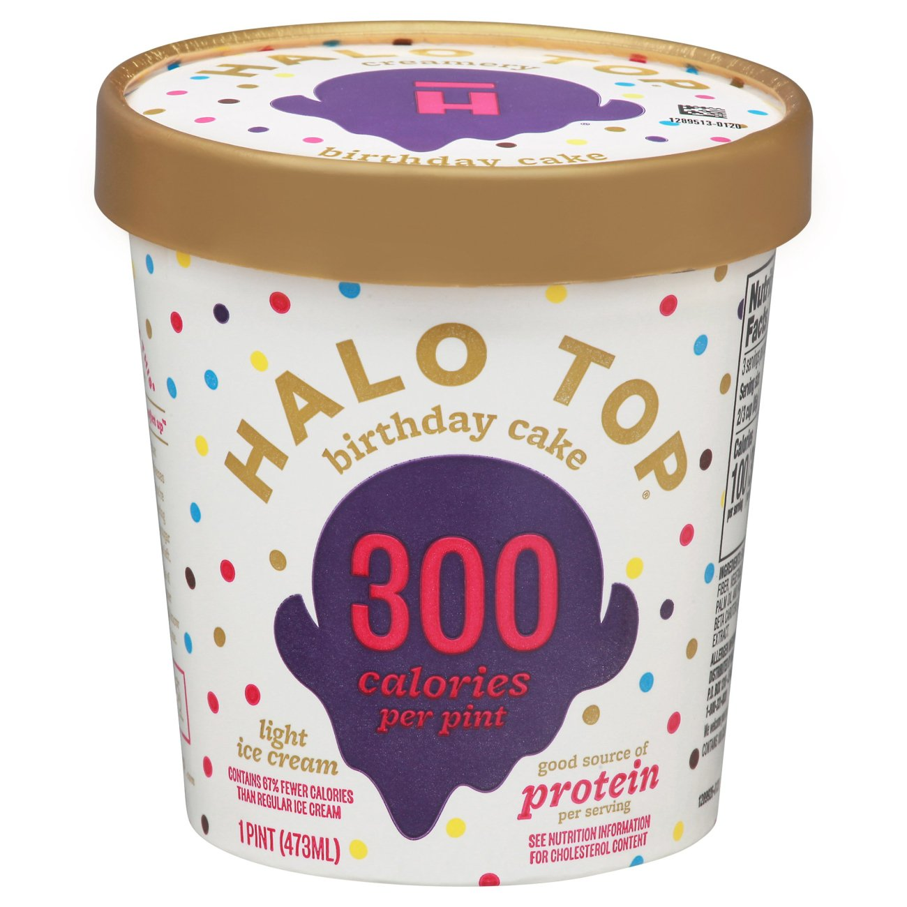 Halo Top Light Ice Cream Birthday Cake Shop Tubs at HEB