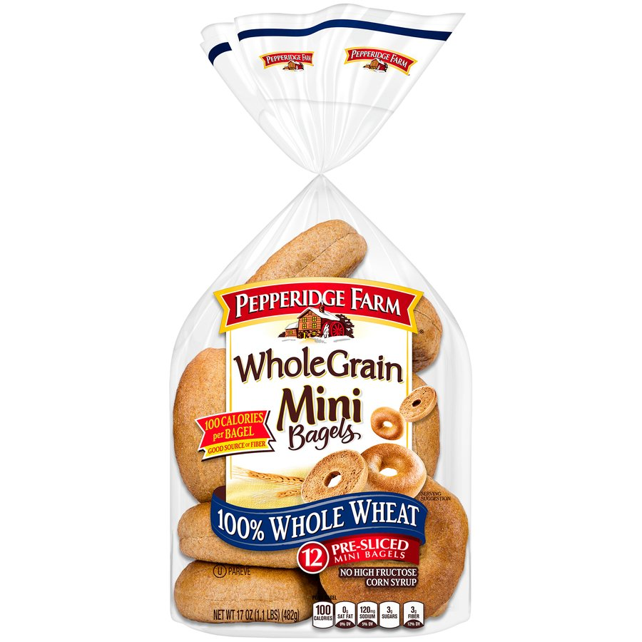 100% Whole Wheat Bagel Thins Bagels | Thomas' |Whole Wheat Bagel Nutrition Facts