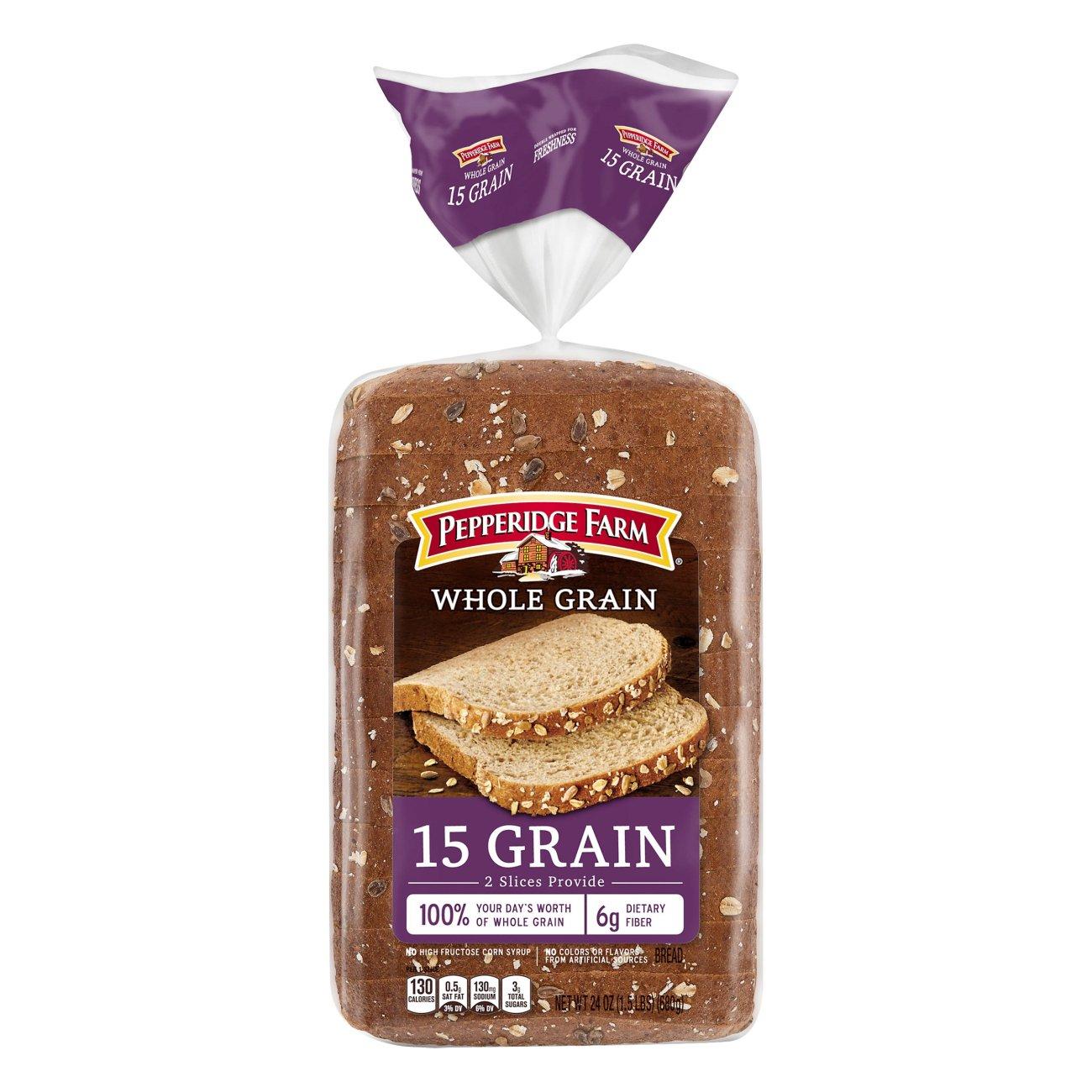 Pepperidge Farm Whole Grain 15 Grain Bread Shop Bread At H E B