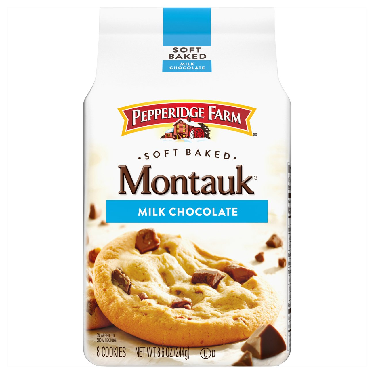 Pepperidge Farm Montauk Milk Chocolate Soft Baked Cookies Shop Cookies At H E B