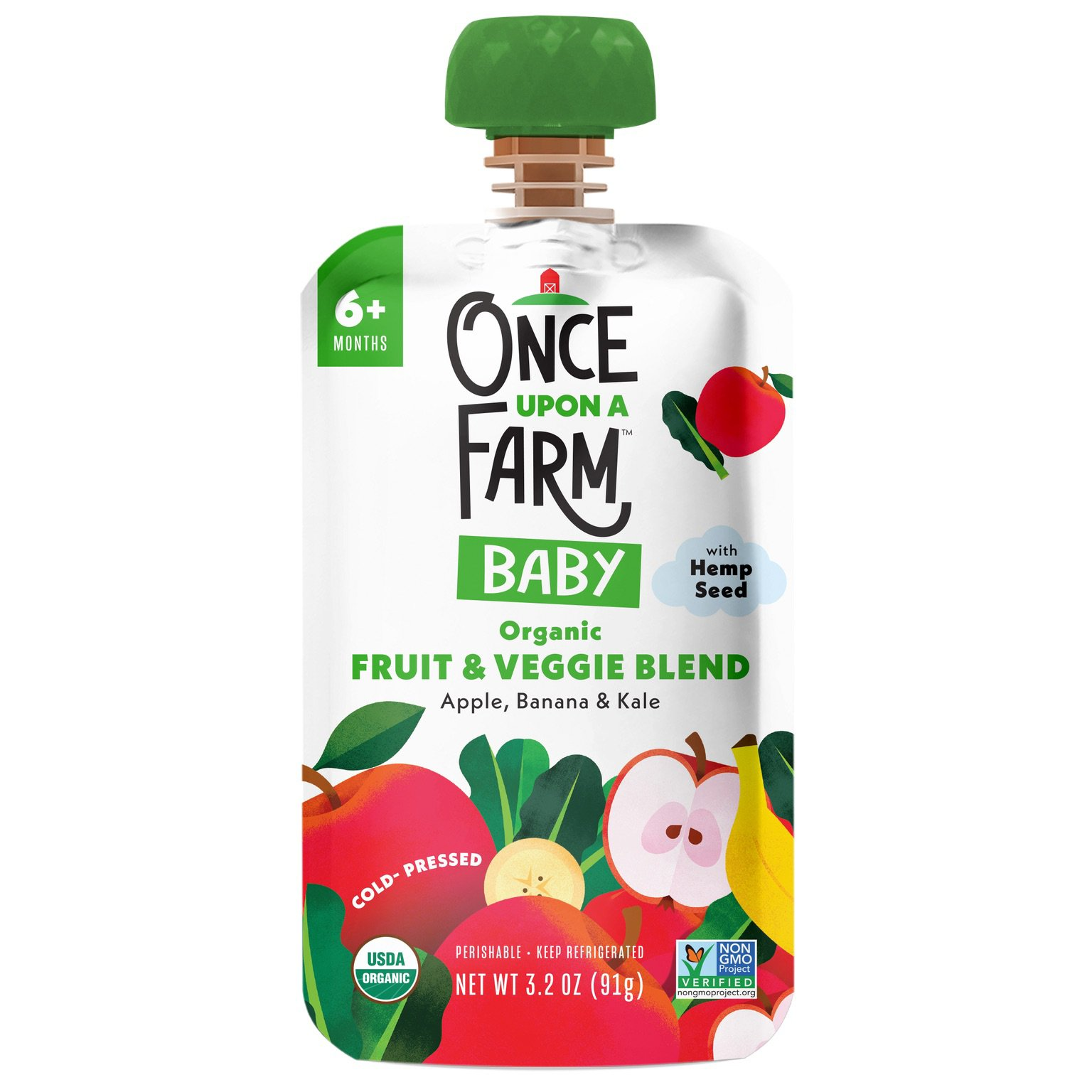 Once Upon A Farm Once Upon A Farm Green Kale Apple Shop Baby Food At H E B