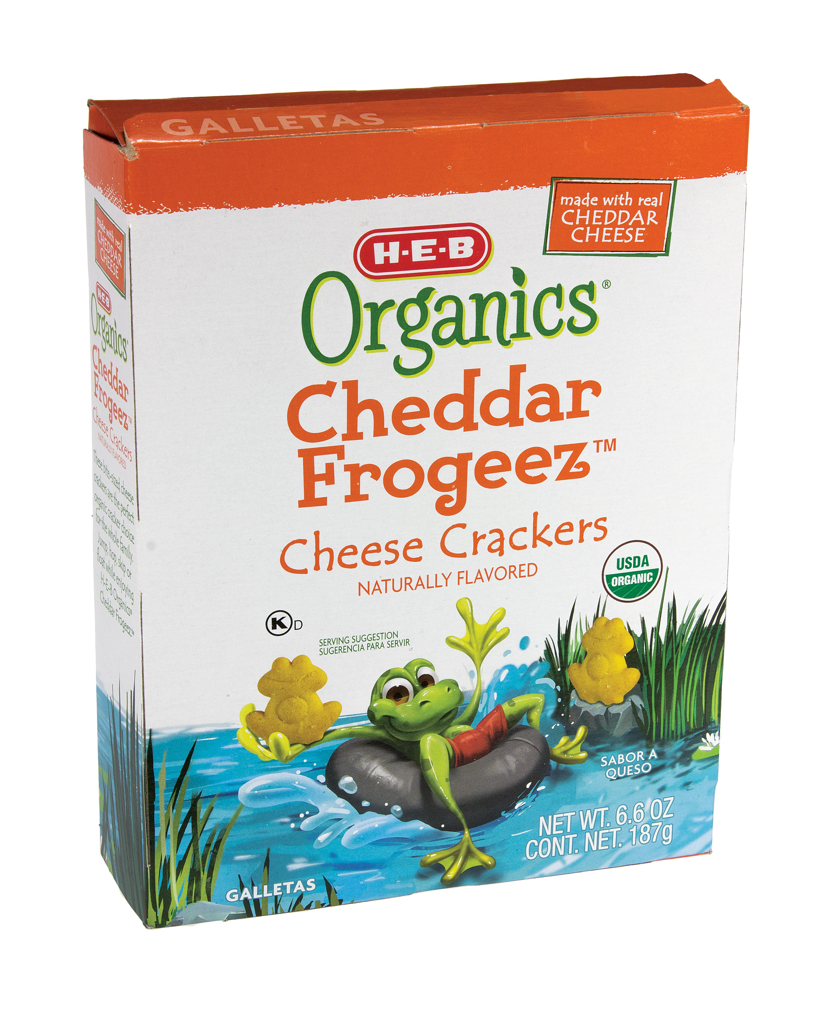 H‑E‑B Organics Cheddar Frogeez Cheese Crackers ‑ Shop Cheese and