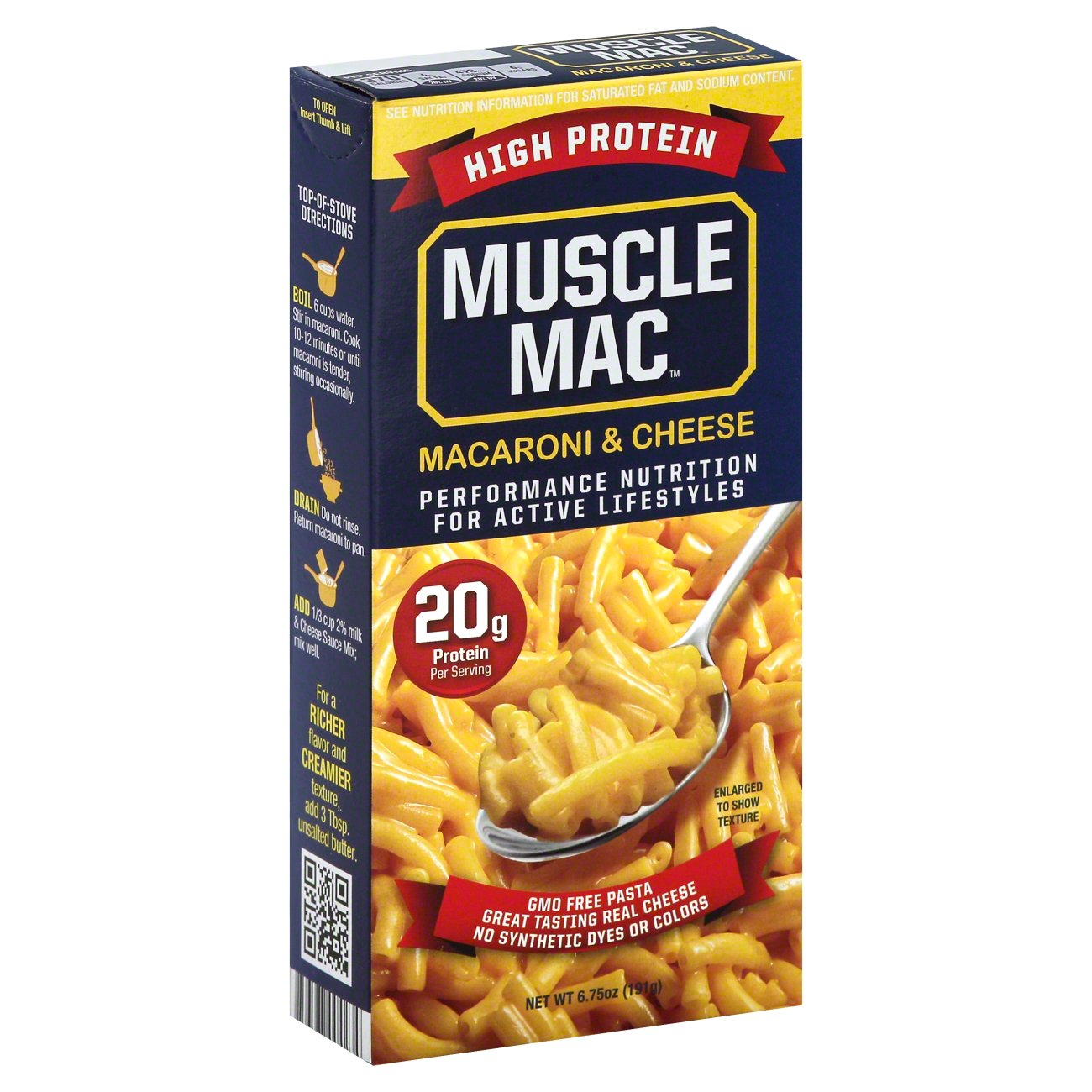 muscle mac high protein macaroni and cheese shop easy dinners at heb