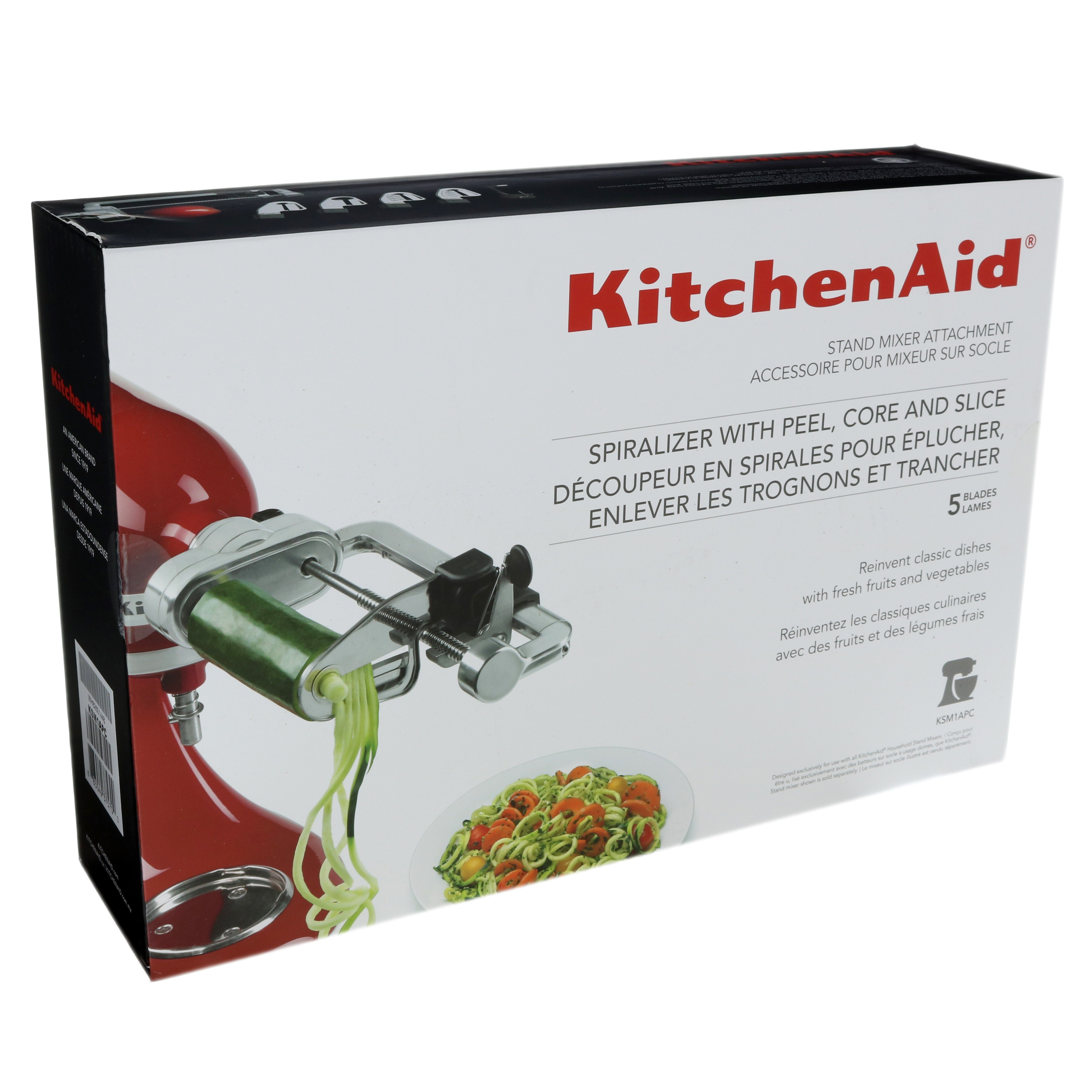 Kitchenaid Attachments Spiralizer Kitchenaid 5 Blade Spiralizer With Peel Core And Slice Stand