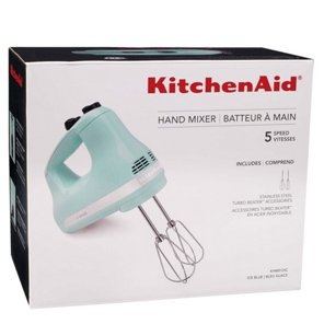kitchenaid 5 speed ultra power hand mixer ice blue shop blenders mixers at heb - Kitchen Aid Hand Mixer