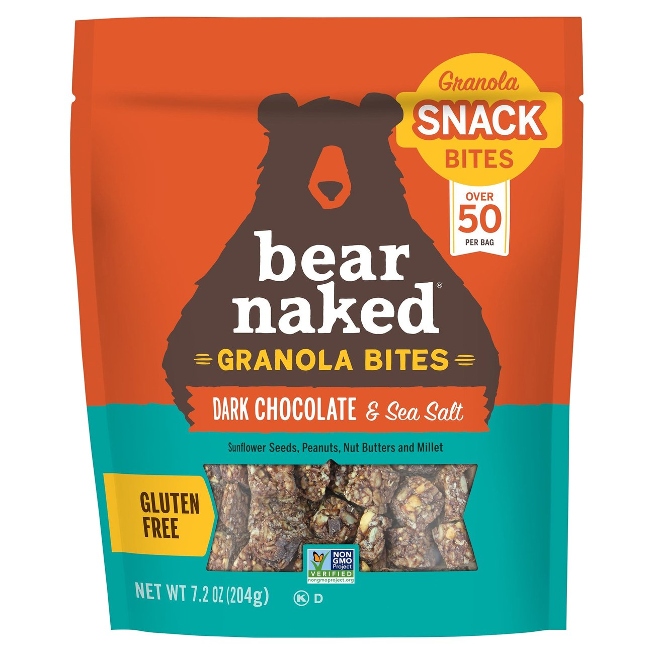 Amazon.com : Bear Naked Dark Chocolate Sea Salt Bites, 7.2