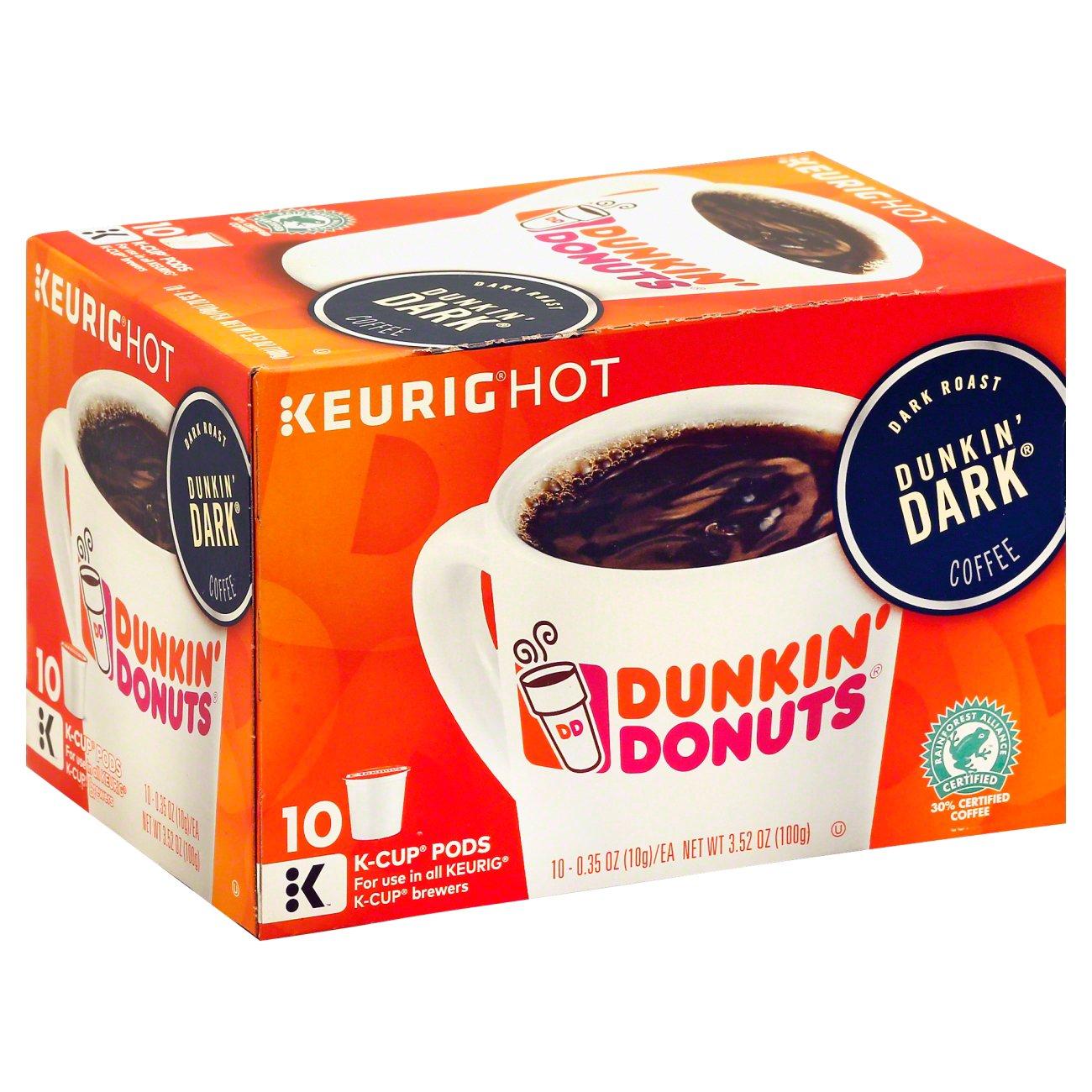 Dunkin' Donuts Dunkin' Dark Dark Roast Single Serve Coffee ...