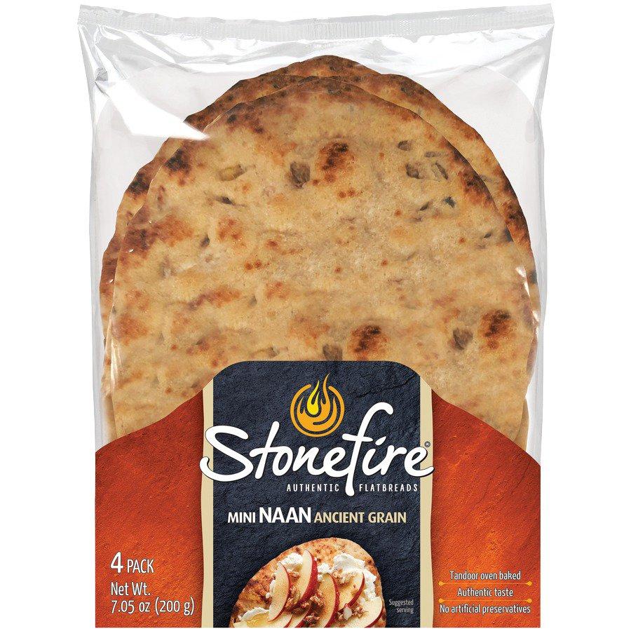 stonefire ancient grain mini naan shop artisan breads at heb