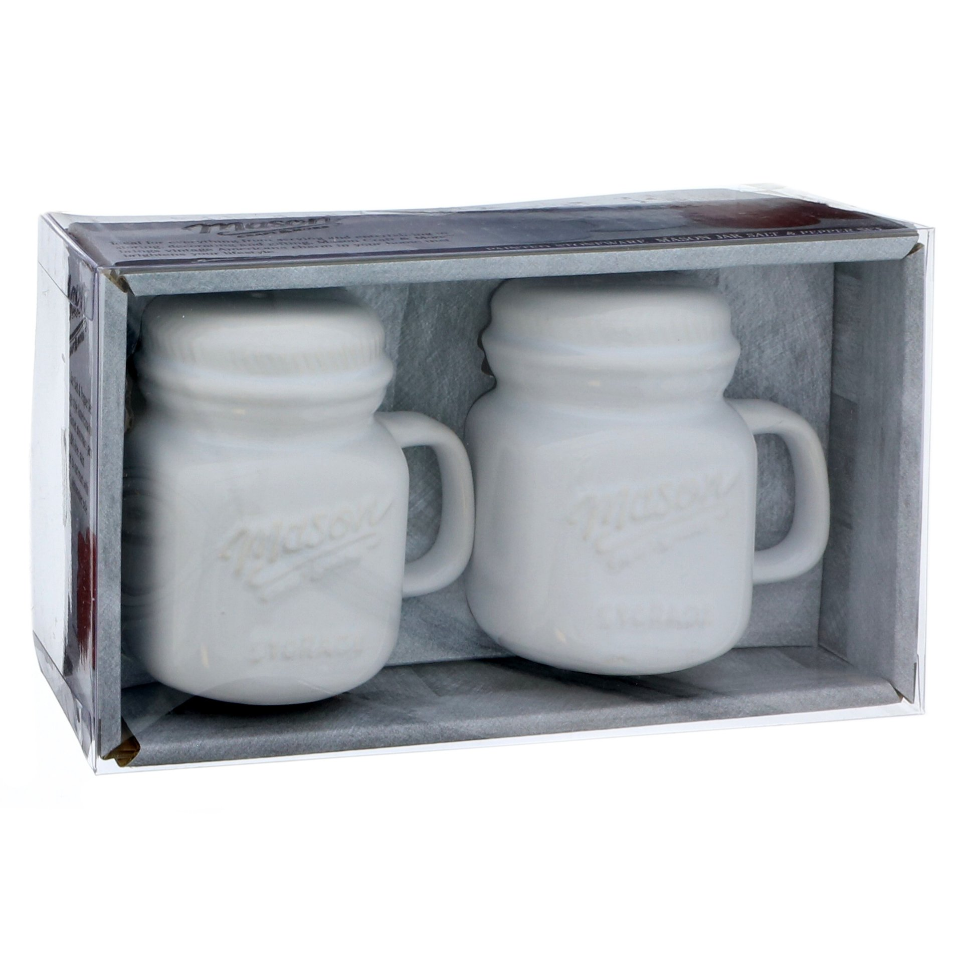 Mason Craft More White Mason Jar Salt Pepper Shaker Set Shop Utensils Gadgets At H E B