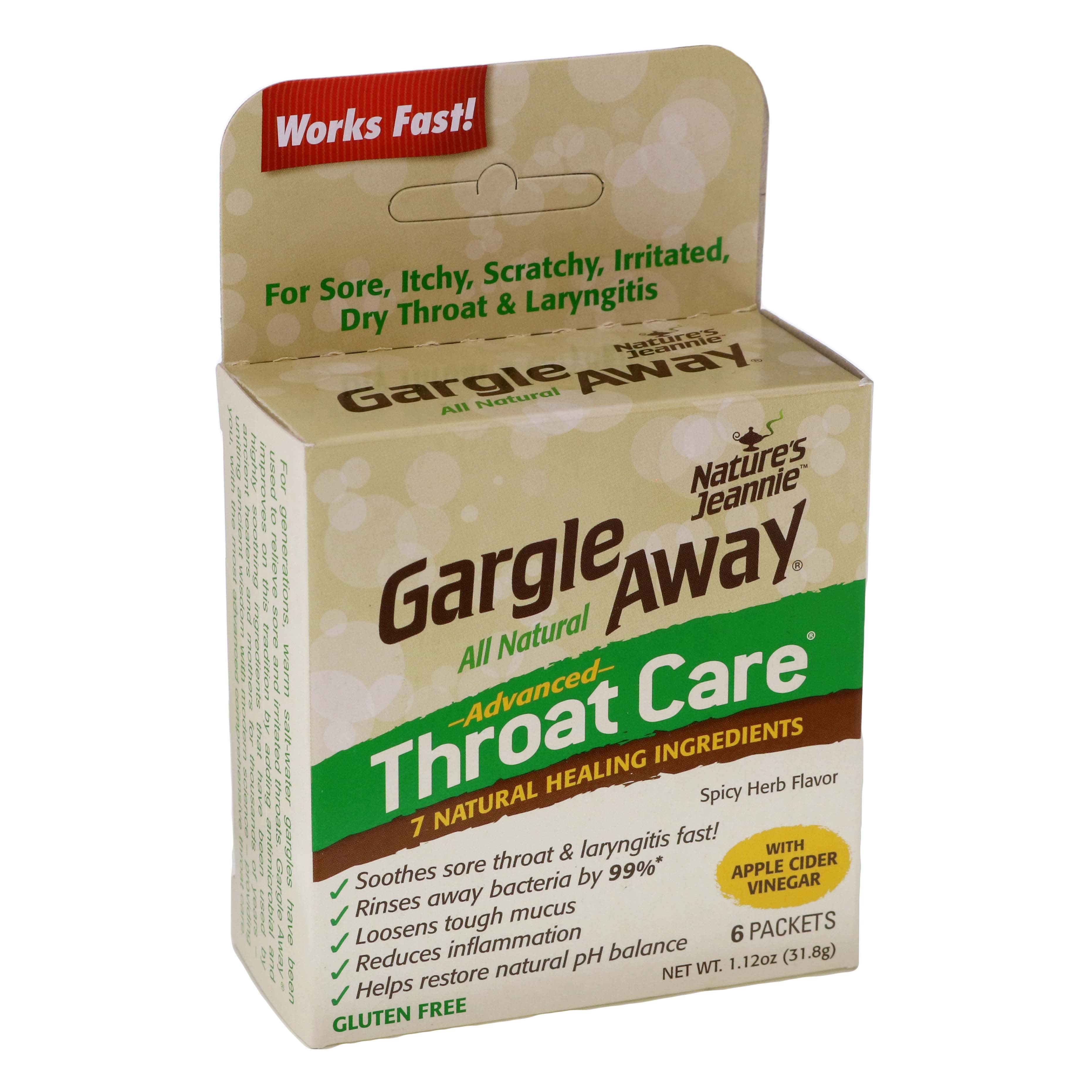 gargle away all natural advanced throat care packets ‑ shop cough