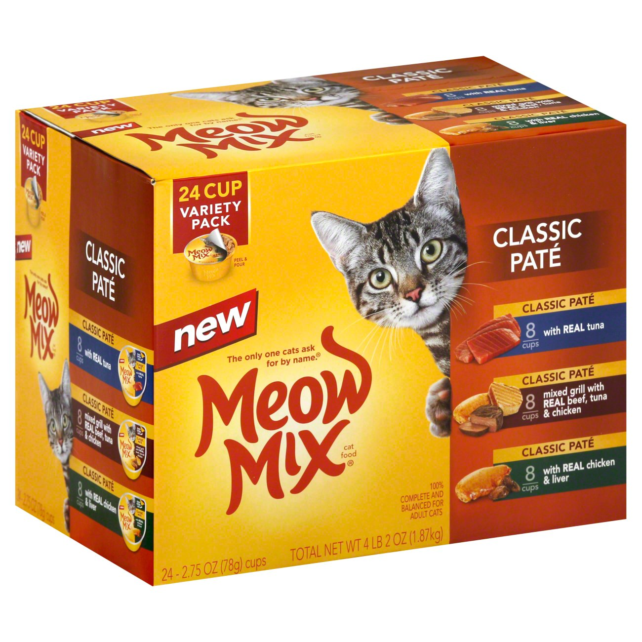 Meow Mix Classic Pate Cat Food Variety Pack - Shop Cats at H-E-B