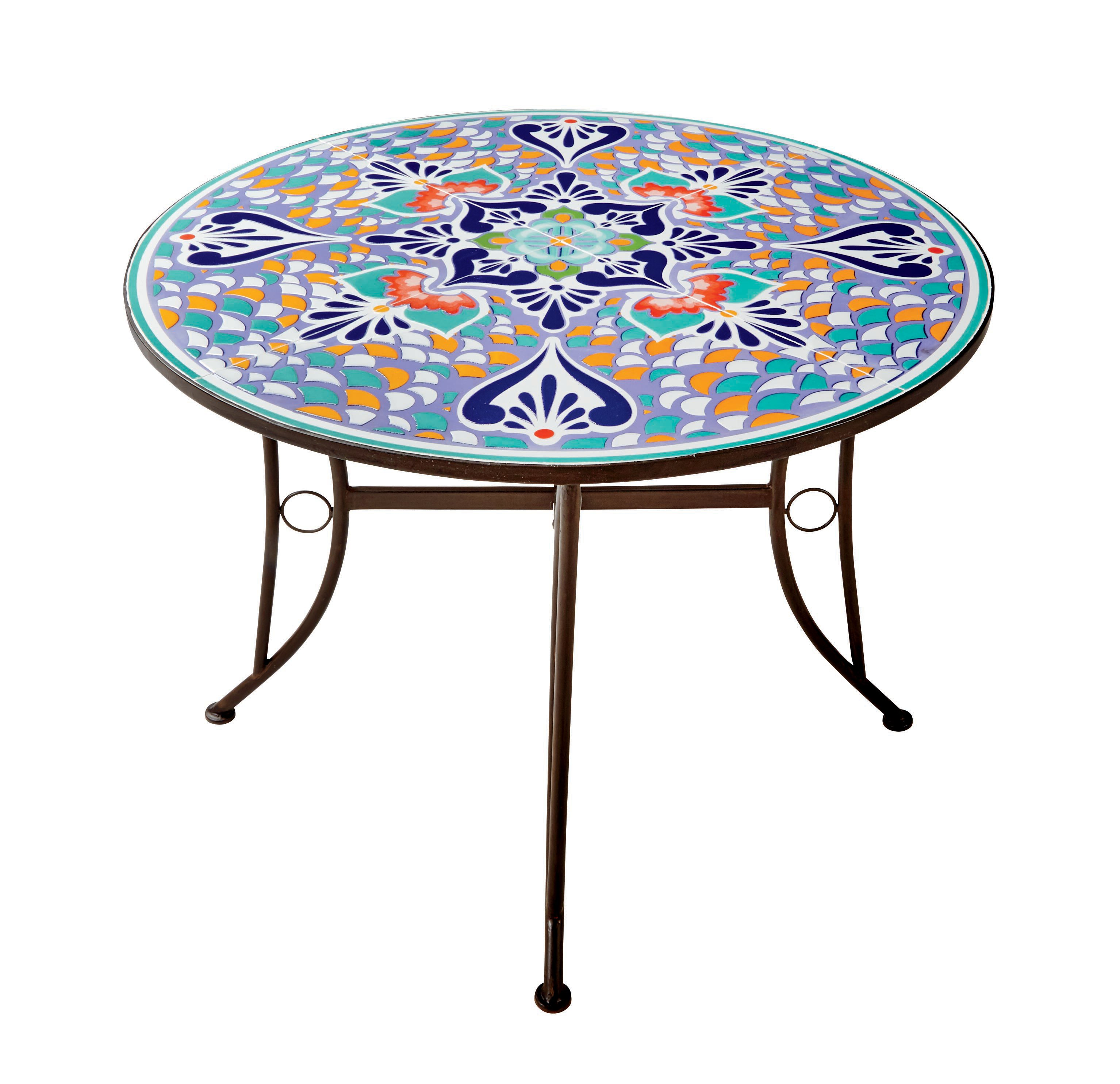 Texas Style Talavera Dining Table   Shop Furniture At HEB