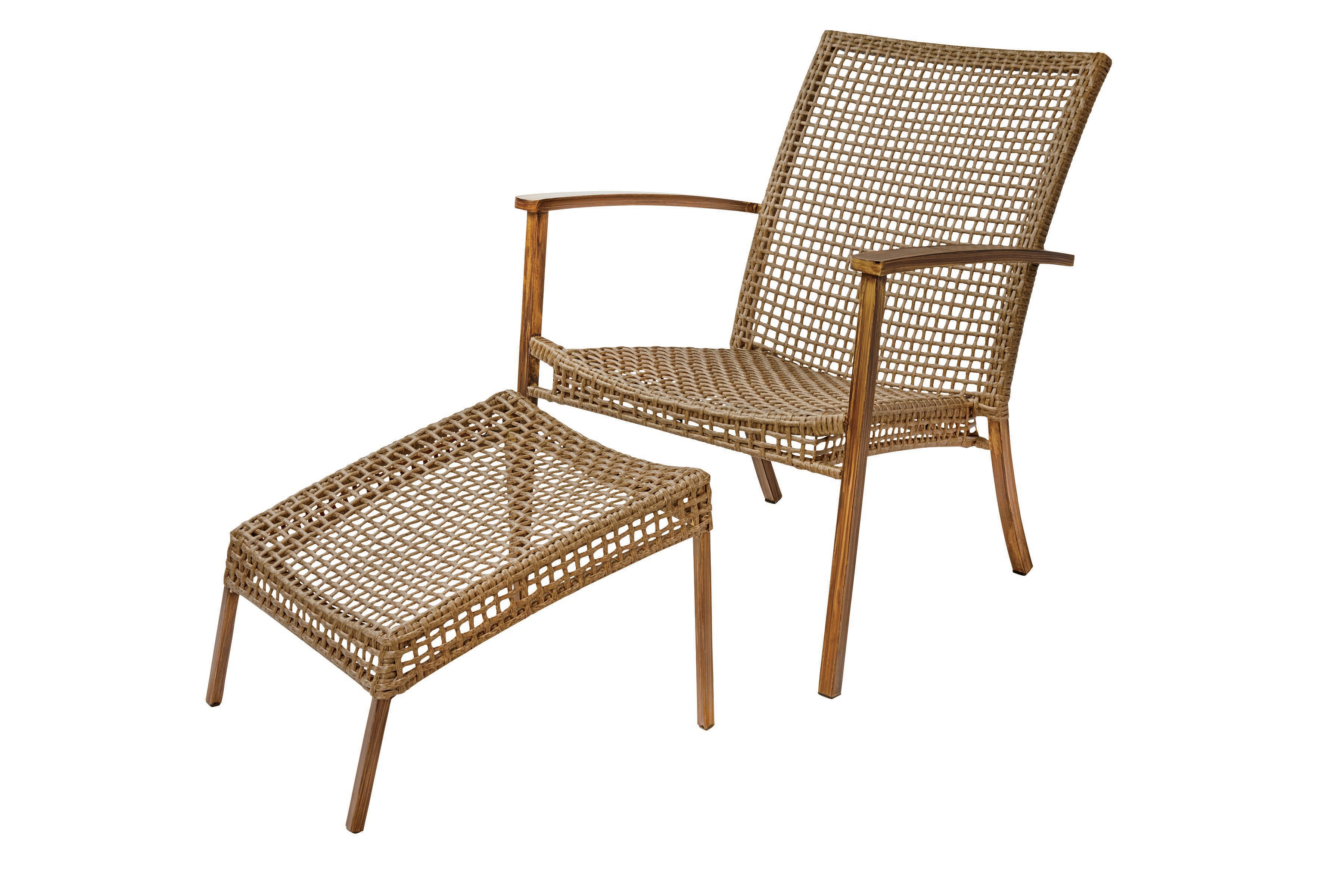 Zest Garden Holbrook Chair And Ottoman Set Shop Furniture at HEB