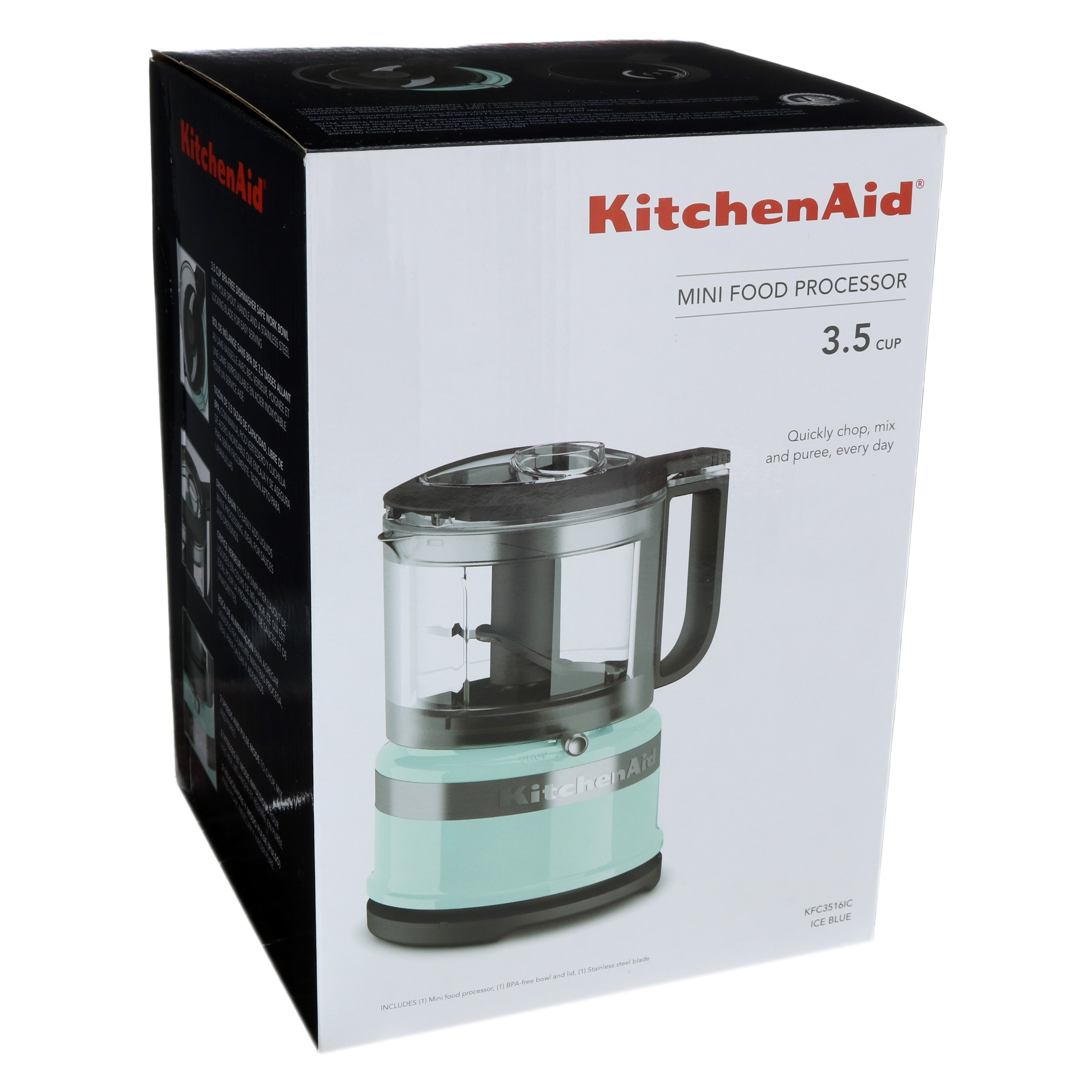 Incroyable KitchenAid 3.5 Cup Mini Food Processor, Ice Blue   Shop Blenders And Mixers  At HEB