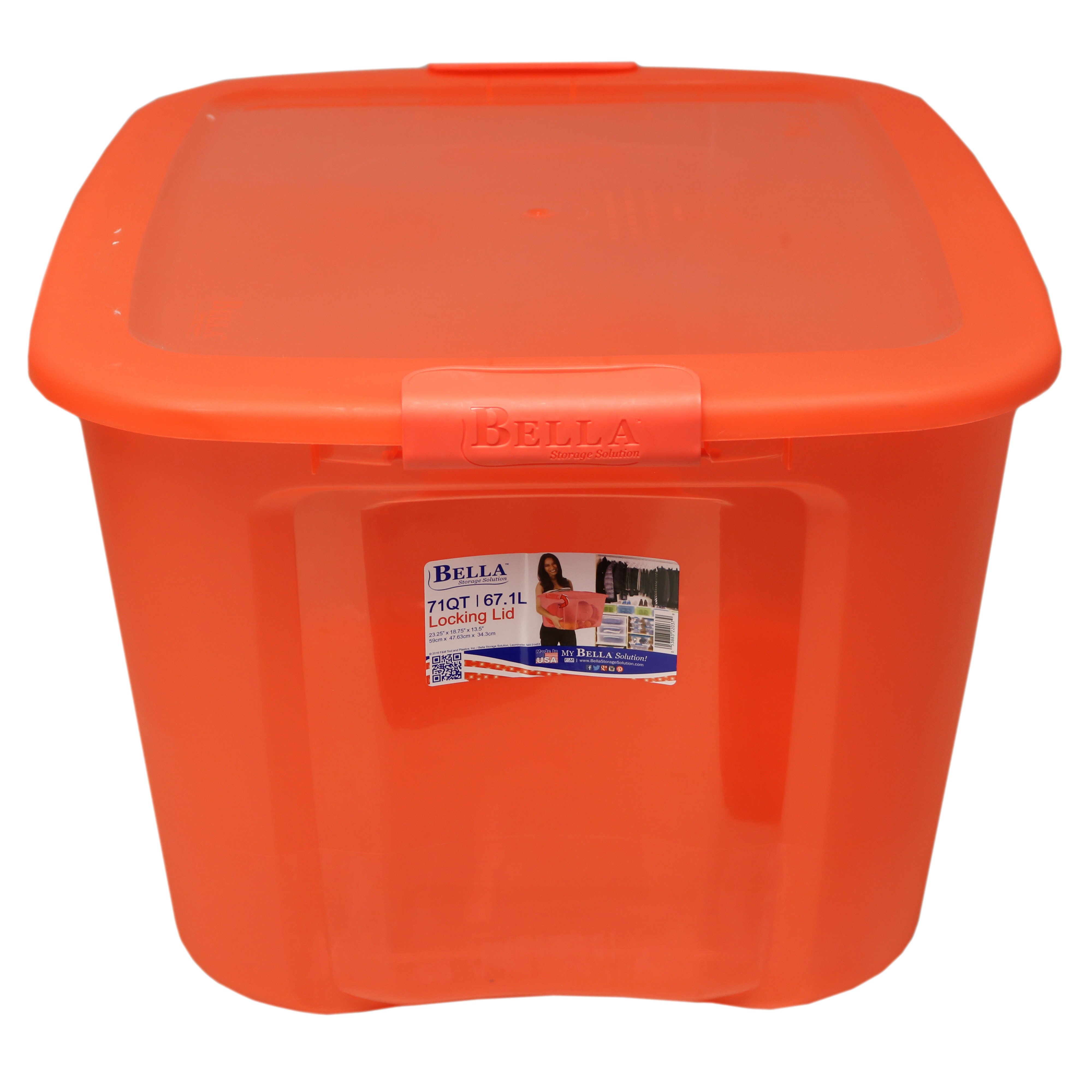 Bella 71 QT Storage Container With Locking Lid, Coral U2011 Shop Bella 71 QT Storage  Container With Locking Lid, Coral U2011 Shop Bella 71 QT Storage Container With  ...