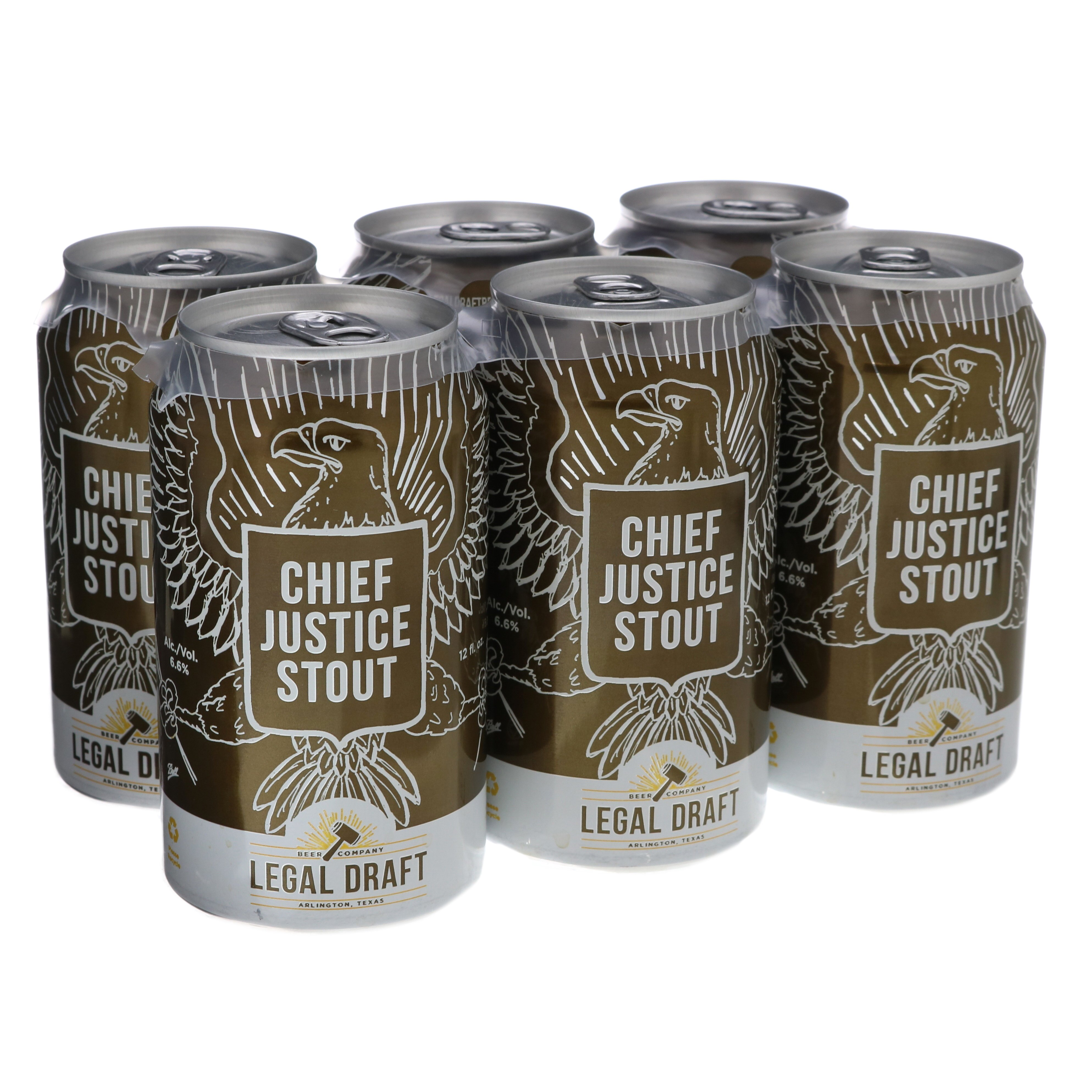 legal draft chief justice stout beer 12 oz cans shop beer at h e b