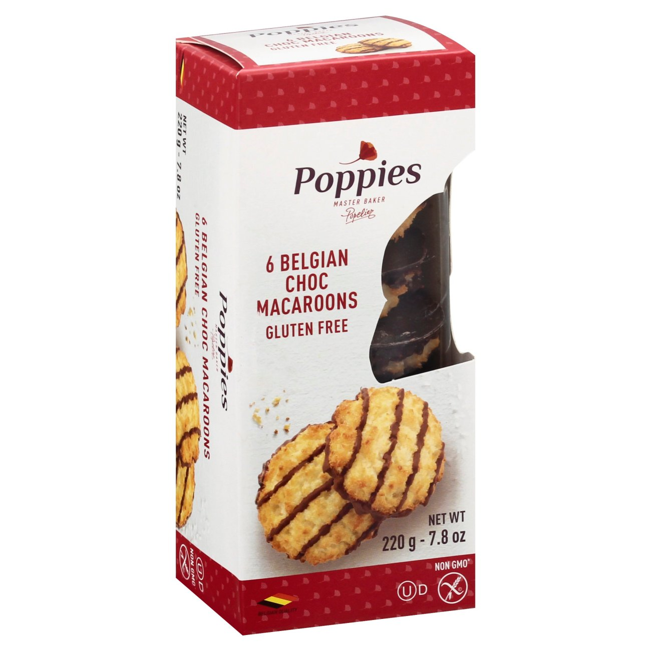 Poppies Chocolate Drizzle Coconut Macaroon Cookies Shop Cookies At H E B