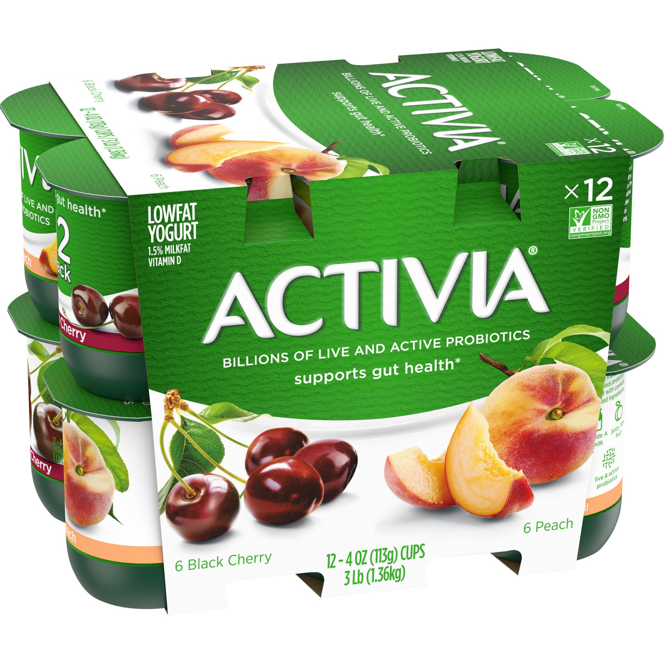 Dannon Activia Low-Fat Peach & Black