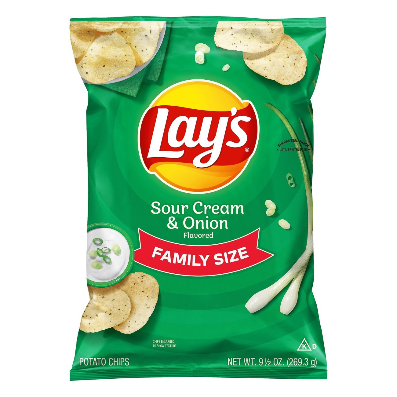 Lay S Sour Cream Onion Potato Chips Family Size Shop Chips At