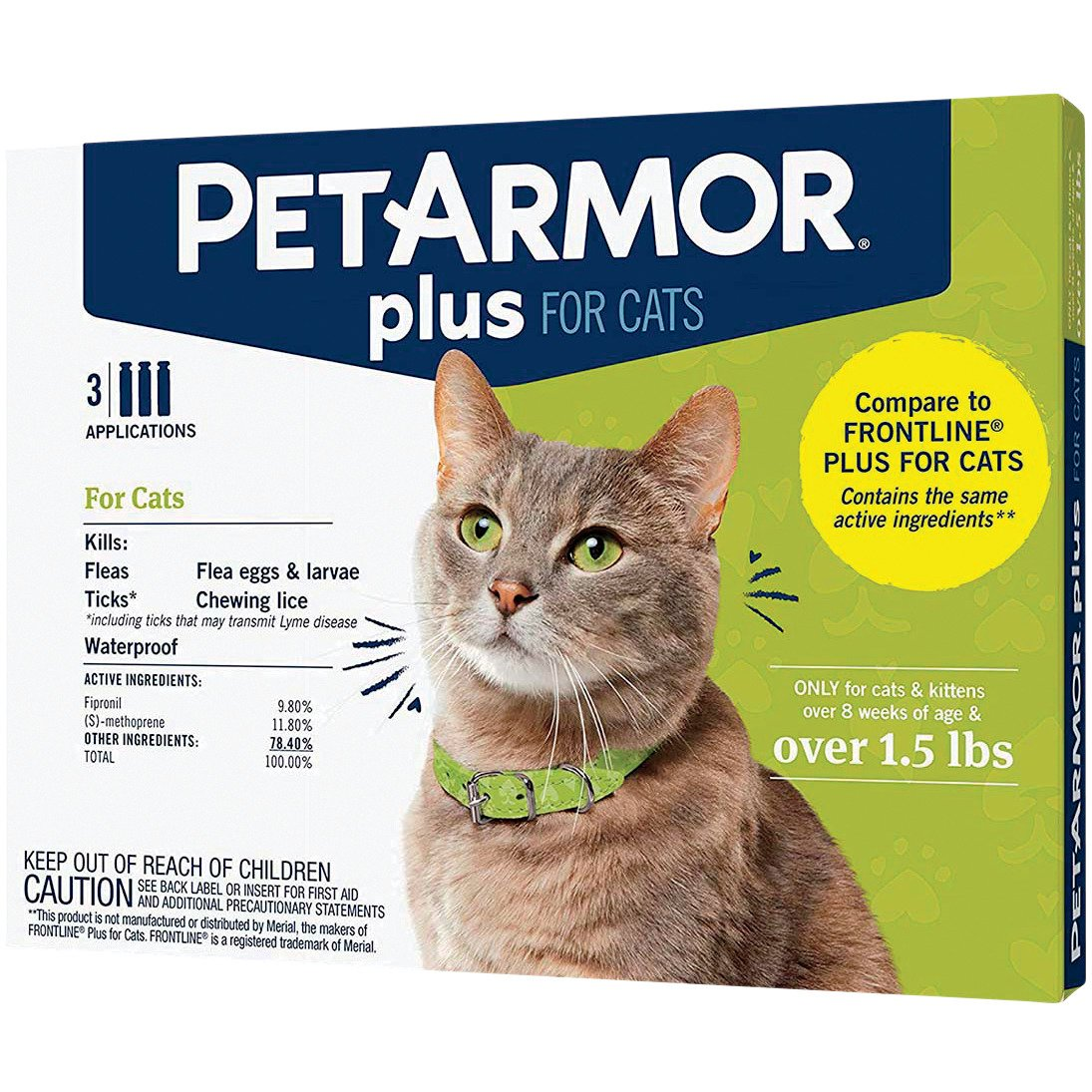 Petarmor Plus For Cats Over 1 5 Lbs Shop Cats At H E B
