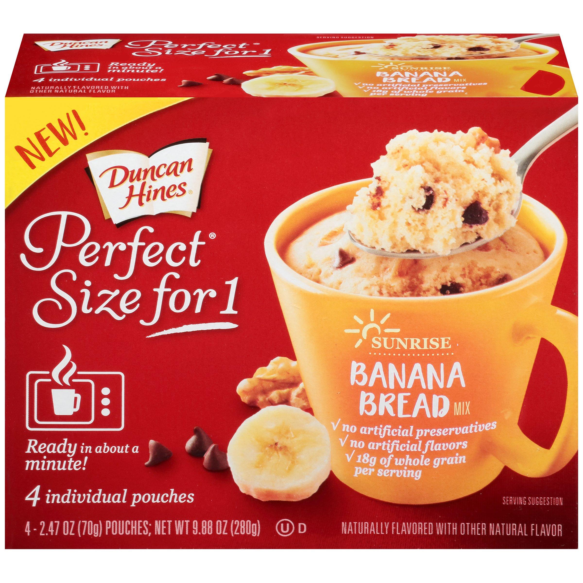 Duncan Hines Perfect Size For 1 Mug Cake Banana Bread Mix Shop Baking Mixes At H E B