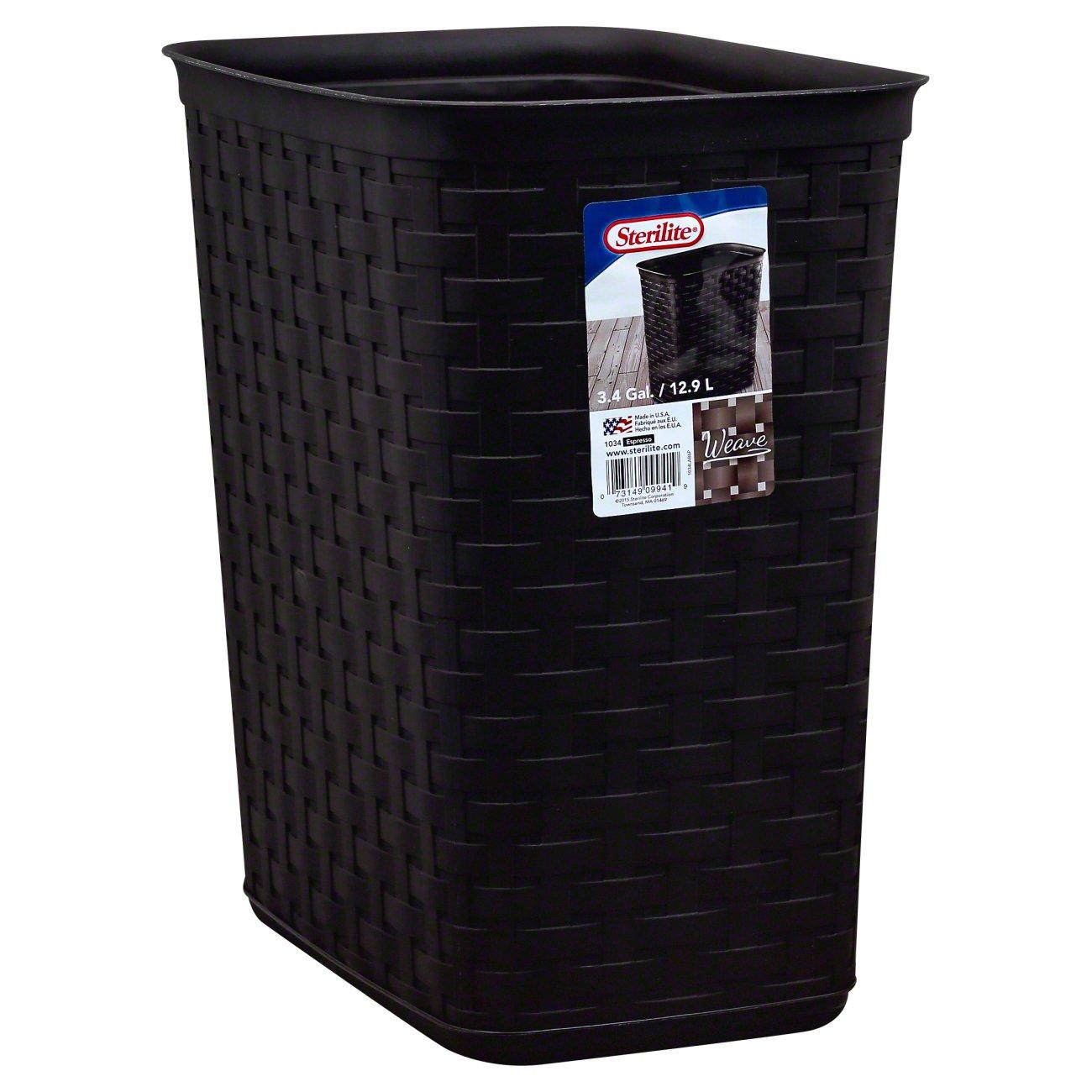 Sterilite Weave Waste Basket Shop Trash Cans At H E B