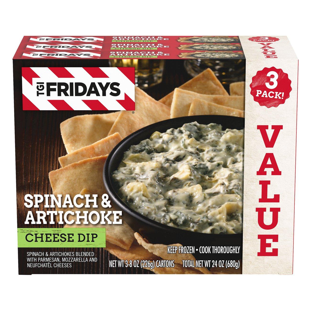 Tgi Fridays Spinach And Artichoke Cheese Dip Shop Salsa Dip At H E B