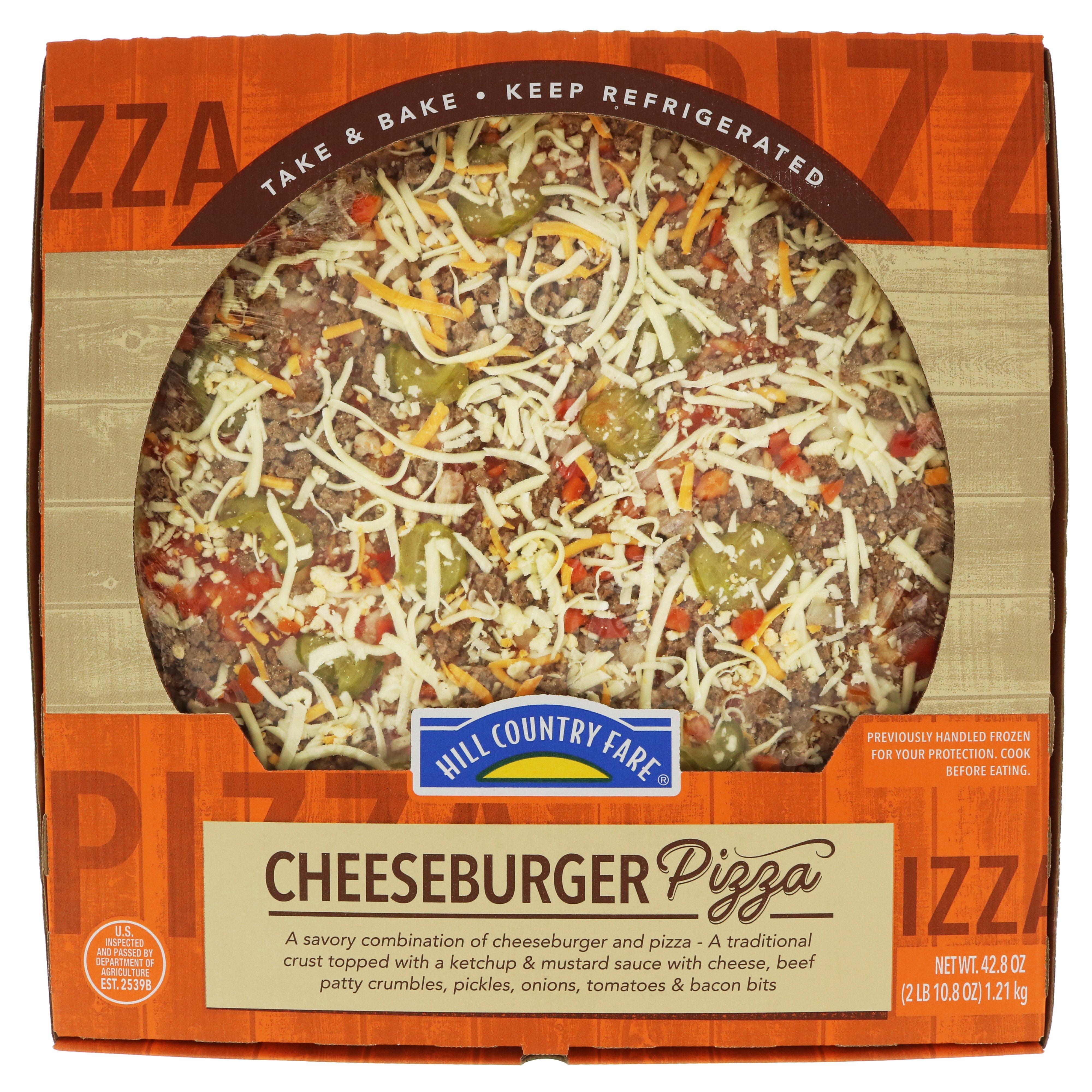 Hill Country Fare Cheeseburger Pizza