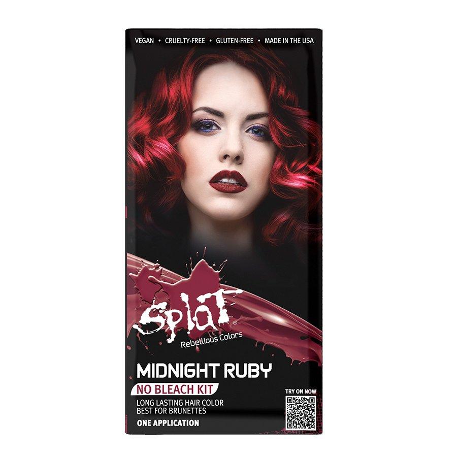 Splat 30 Wash Midnight Ruby Hair