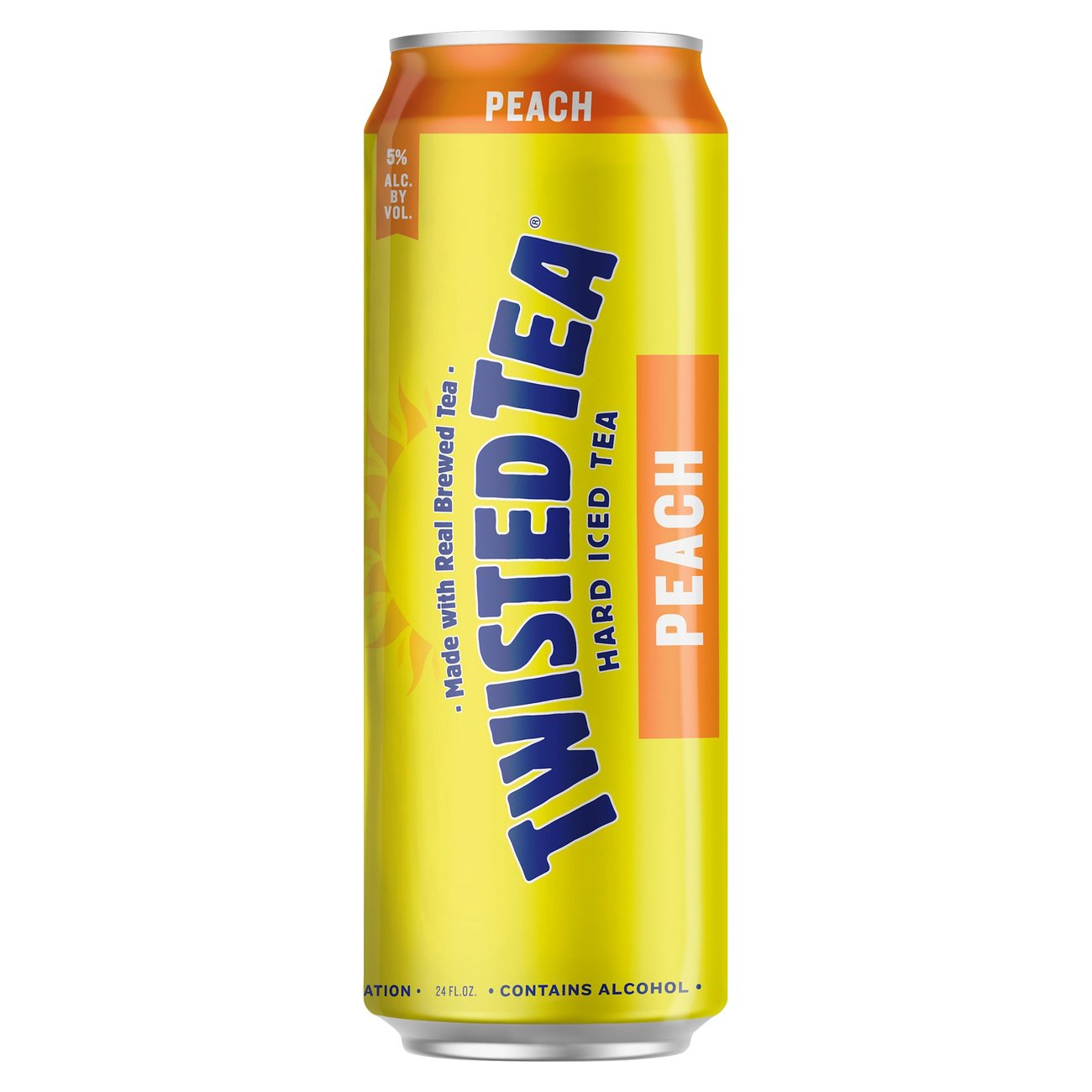 Twisted Tea Peach Flavor - Shop Malt Beverages & Coolers ...